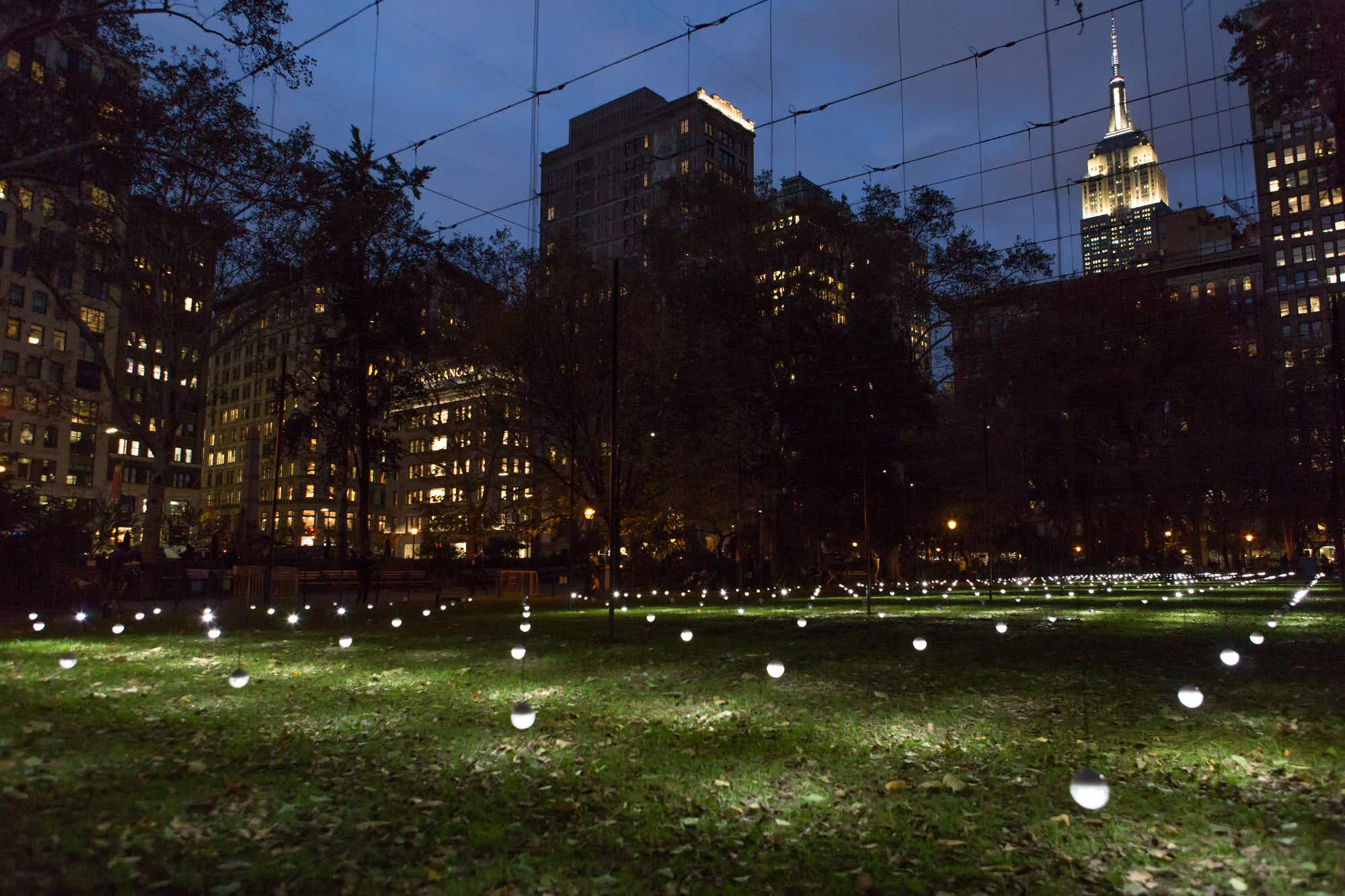 This light installation will make waves in New York City until next March