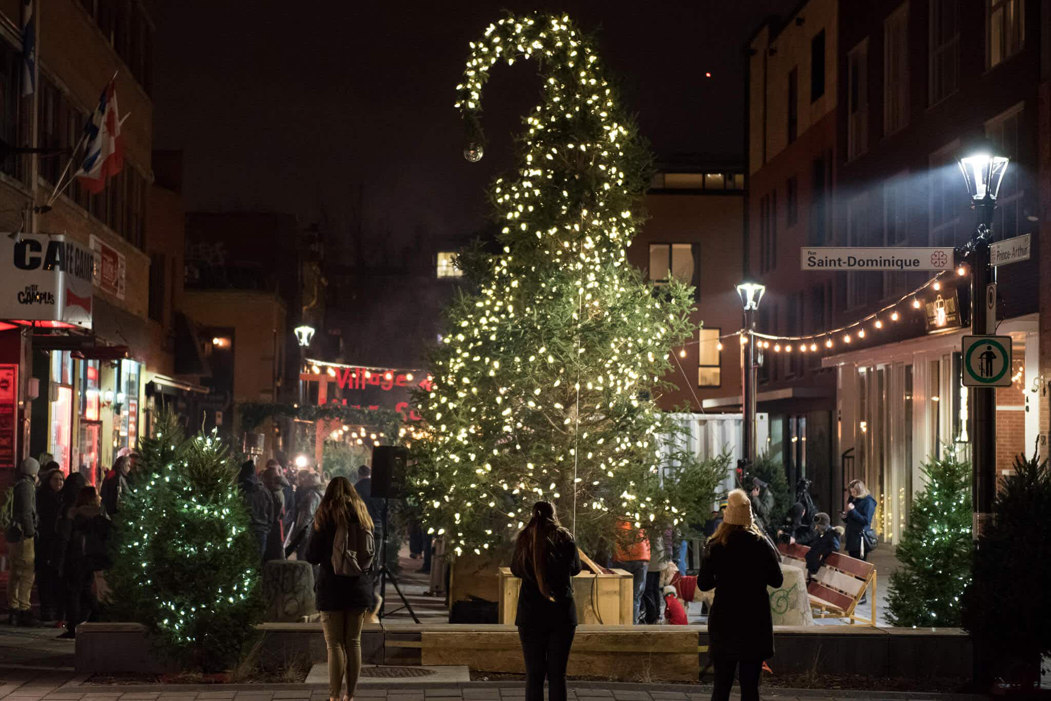 Montréal's ugly Christmas tree returns this year to start a new festive tradition