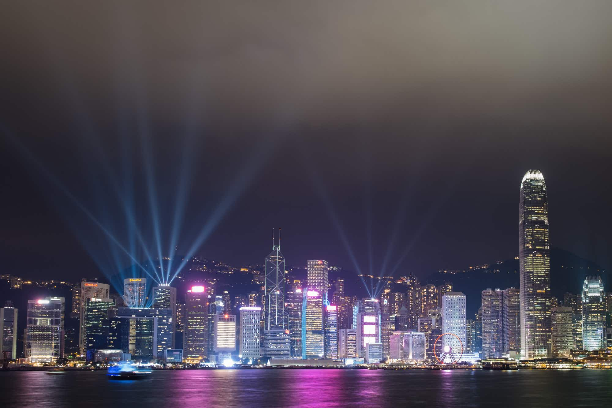 Hong Kong's cityscape light show receives a shimmering revamp