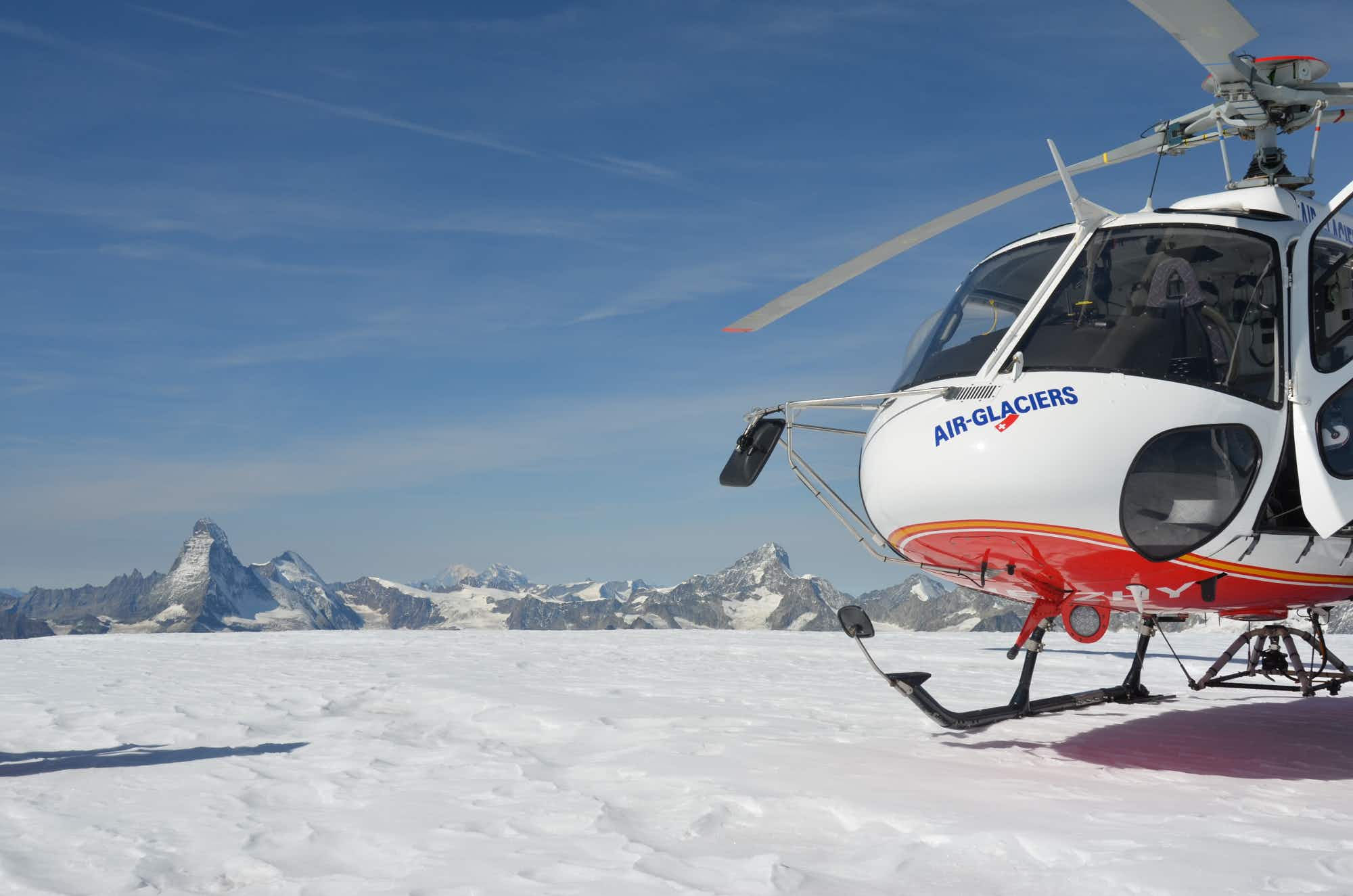 Have lunch on top of a Swiss glacier this winter...and get there by helicopter