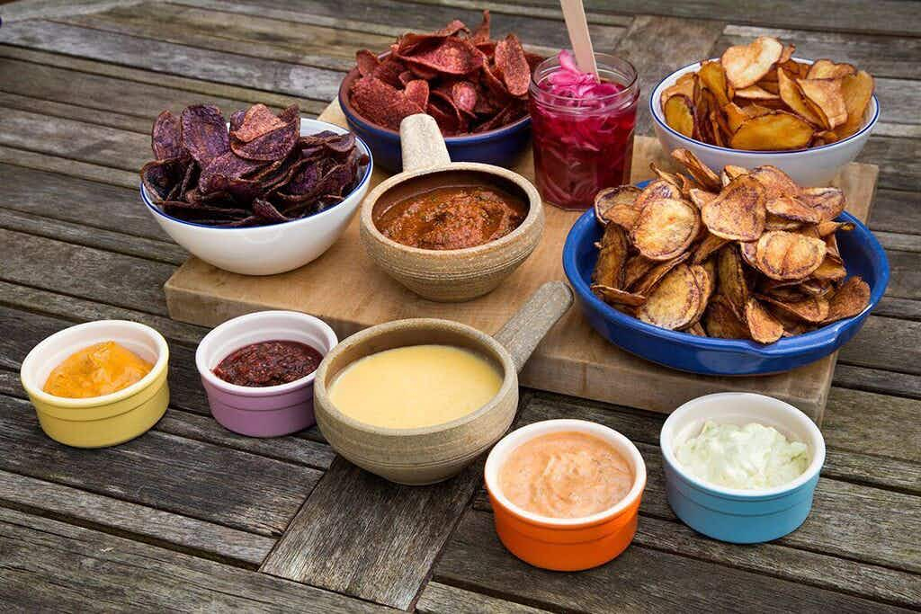 Enjoy a three-course Christmas dinner entirely made of crisps in London