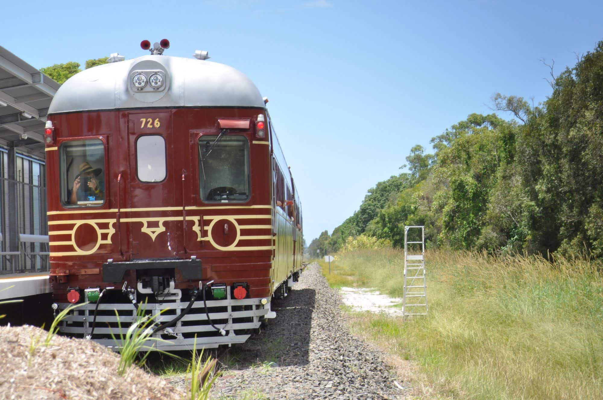 The world's first solar-powered train has launched in Byron Bay