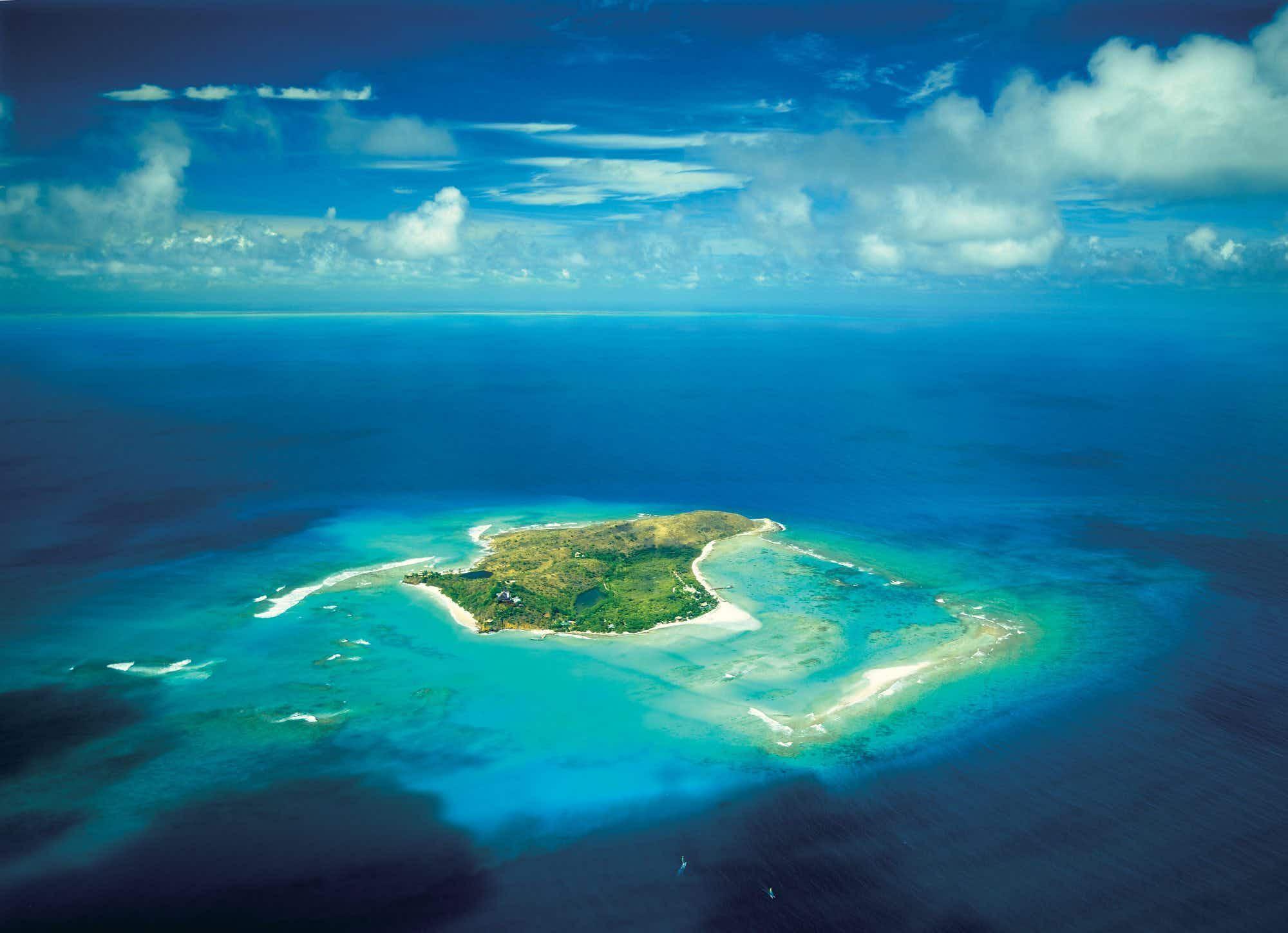 Work begins to rebuild Richard Branson's luxury Caribbean getaway