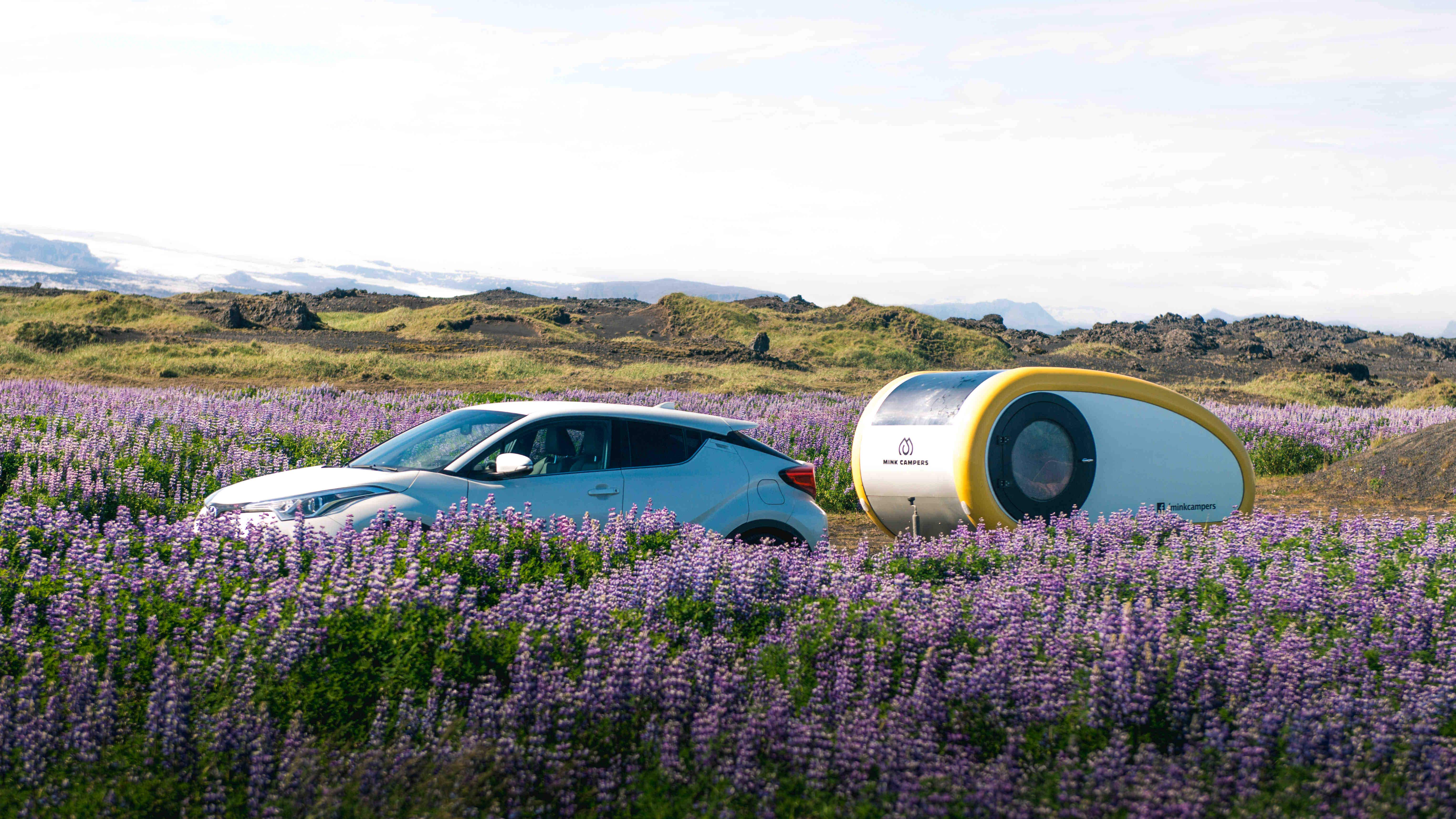 Watch the Northern Lights from inside these cool Icelandic campers