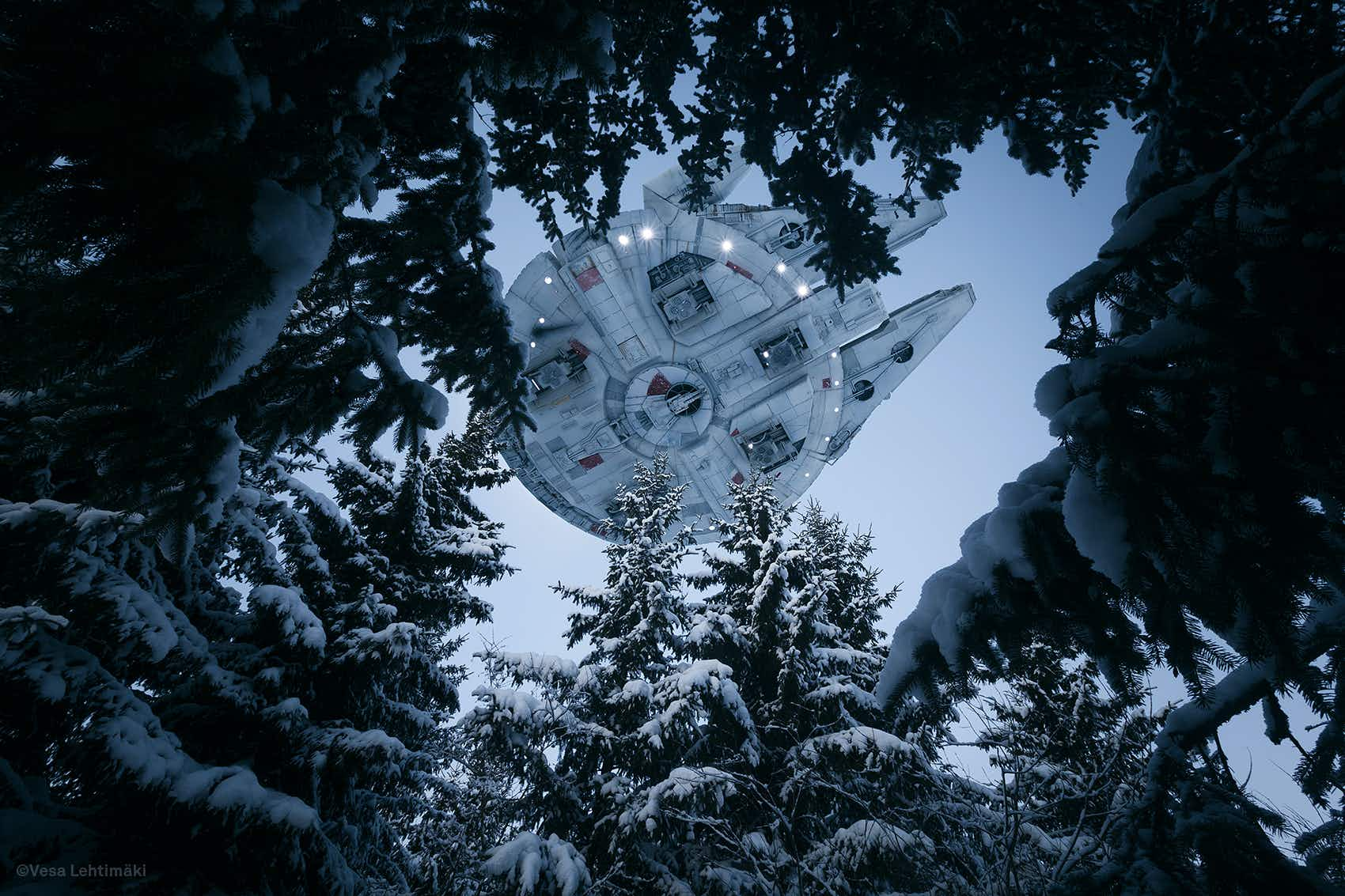 Have Star Wars spaceships been spotted flying across Helsinki?