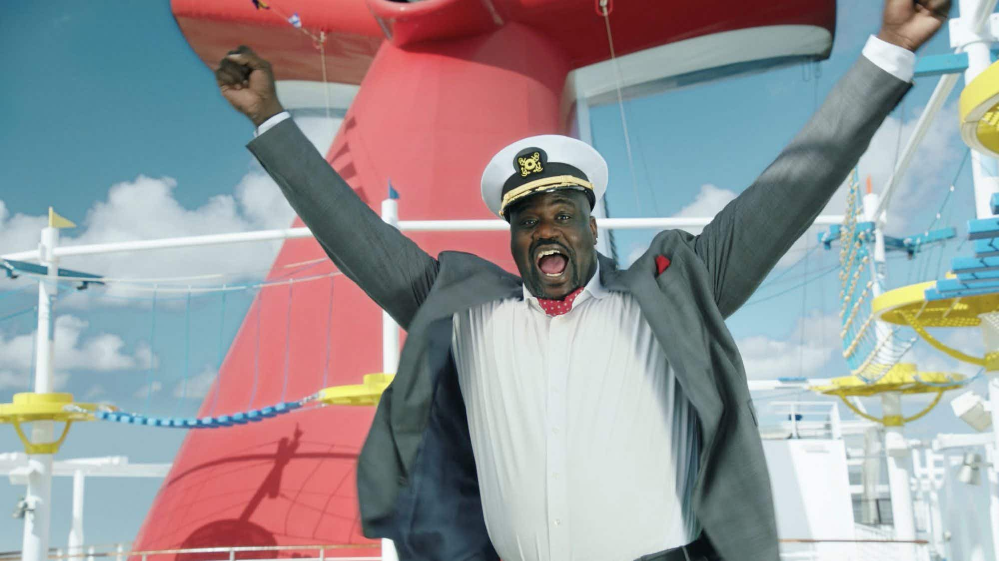 Basketball legend Shaquille O'Neal is now working on a cruise liner...kind of