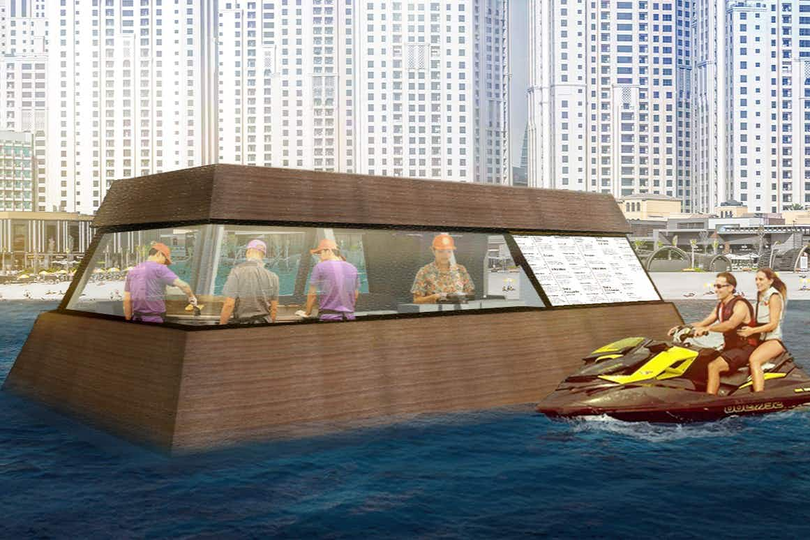 Dubai to get the world's first floating kitchen for hungry jet skiers