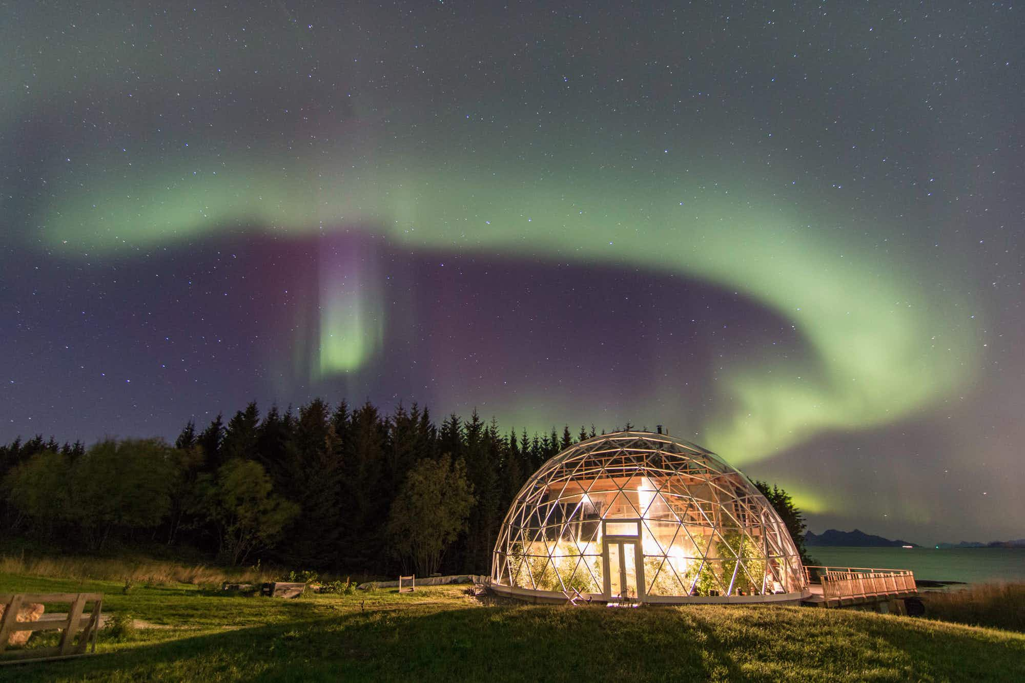 A Norwegian couple has designed the ultimate eco-igloo island getaway