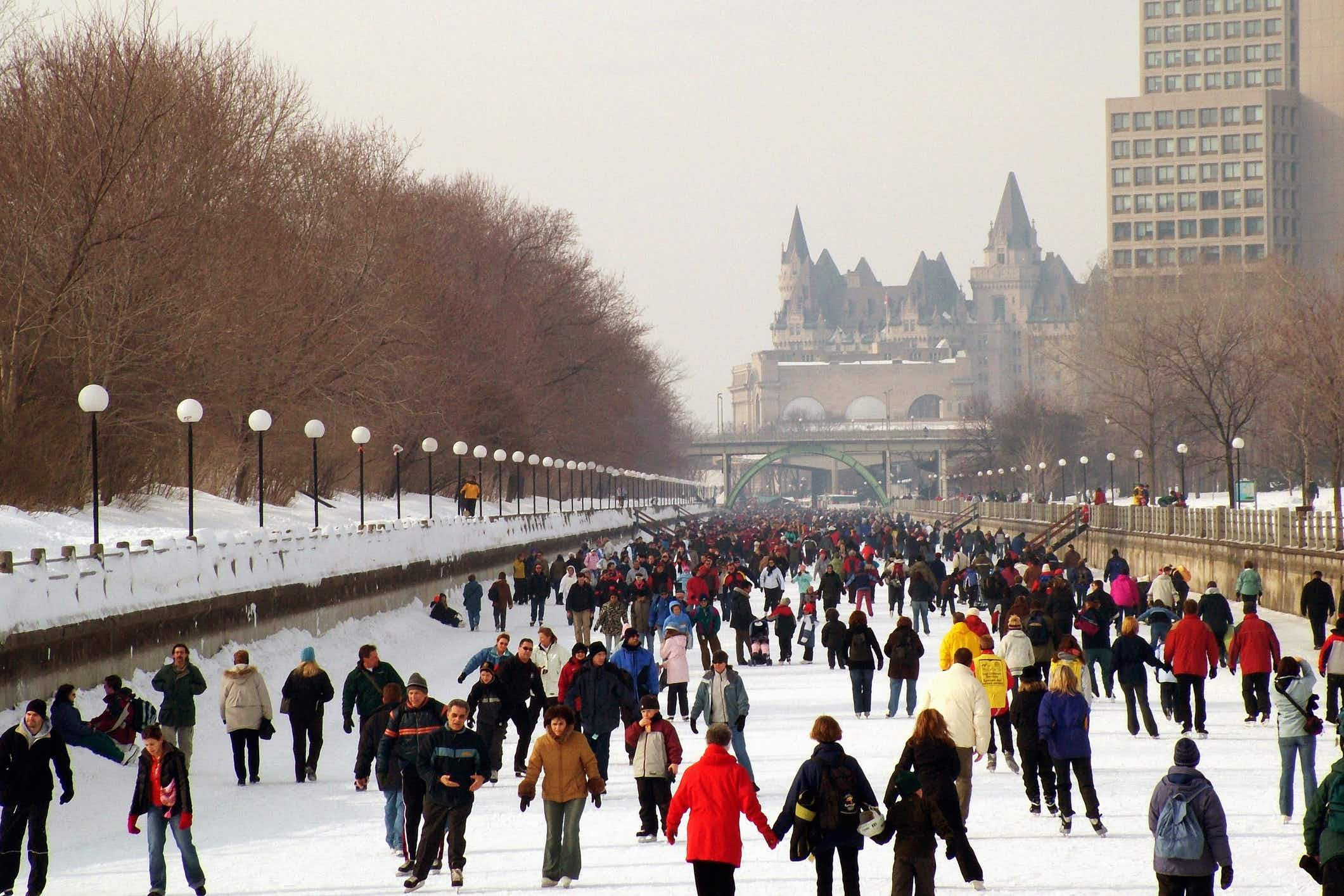 The world's largest natural skating rink is officially open in Ottawa