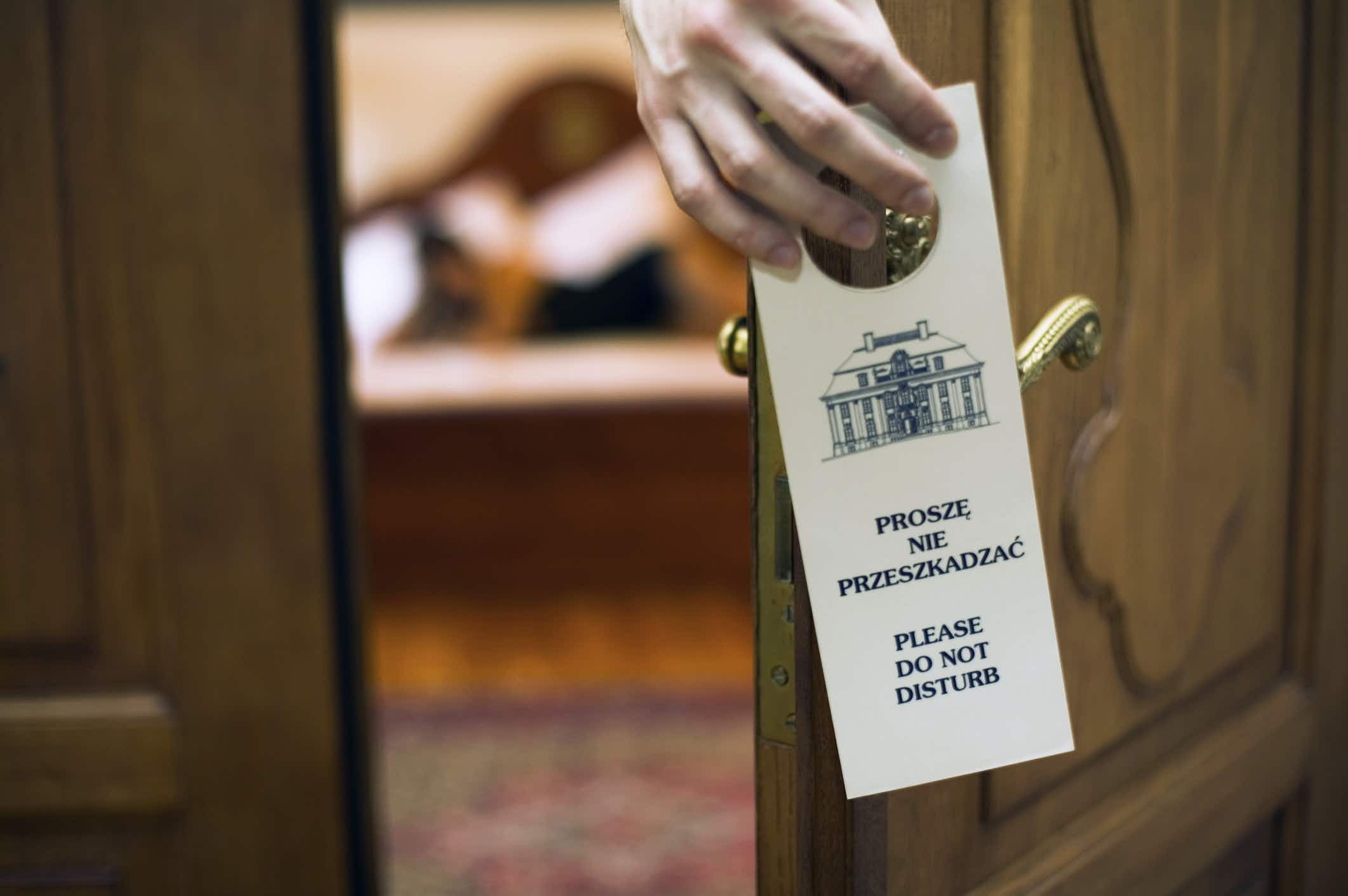 Why 'Do Not Disturb' signs are disappearing from US hotels
