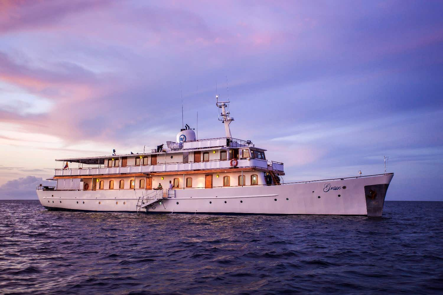 You can now cruise to the Galápagos on Grace Kelly's former yacht