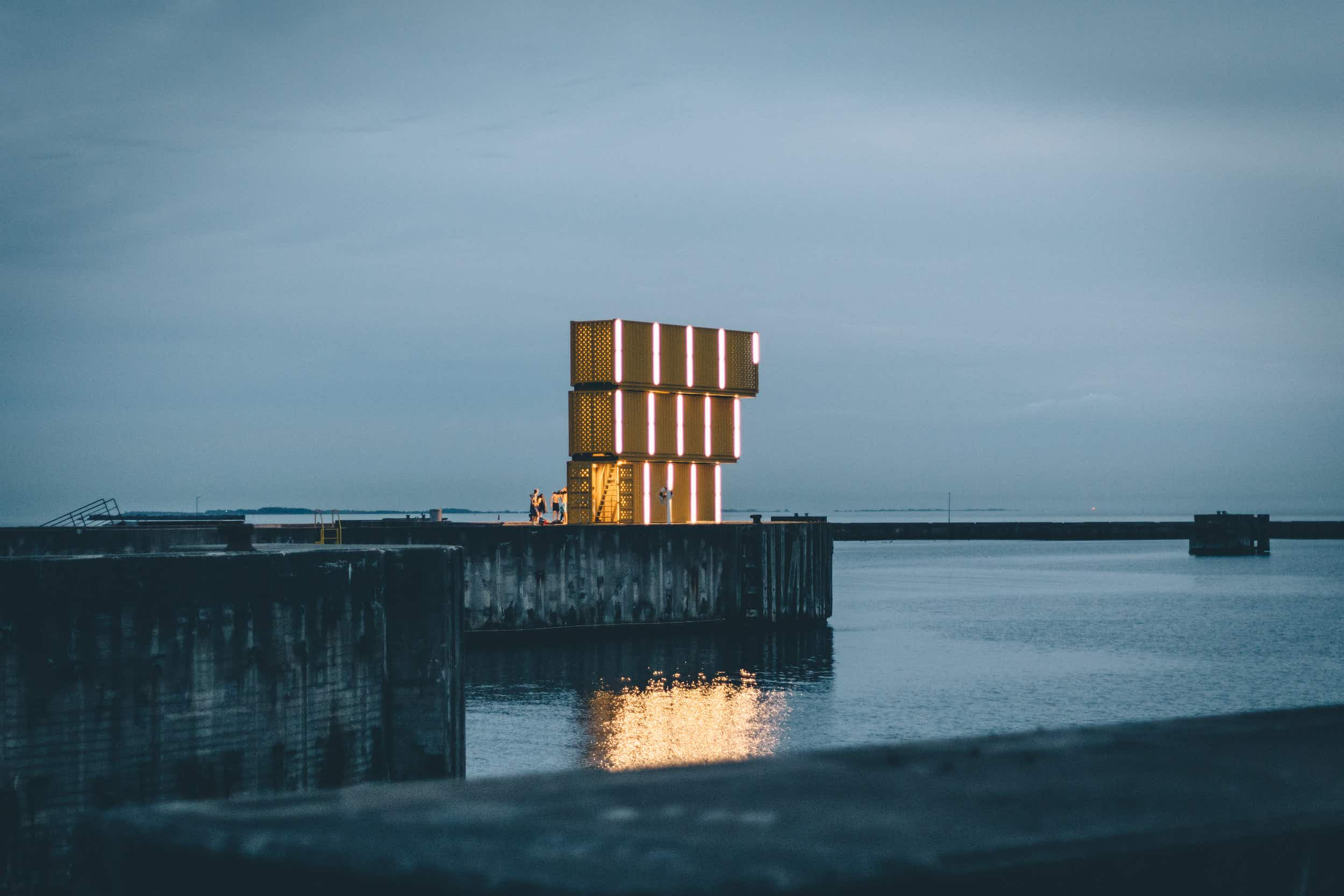 Denmark's newest water centre is made from stacked shipping containers