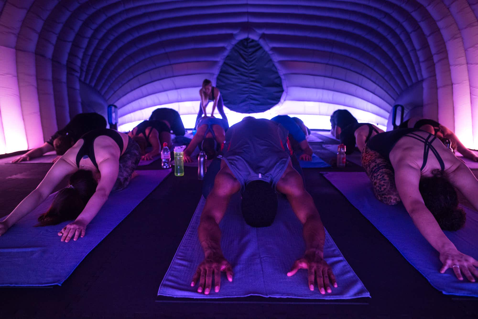 Introducing Hotpod Yoga - inflatable hot yoga studios are coming your way