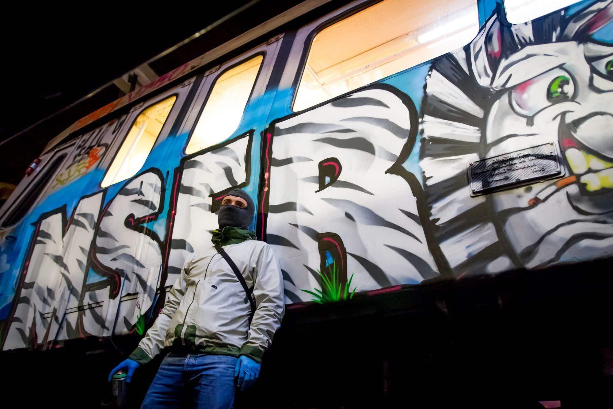 Train graffiti artists around the world unite to showcase their art form