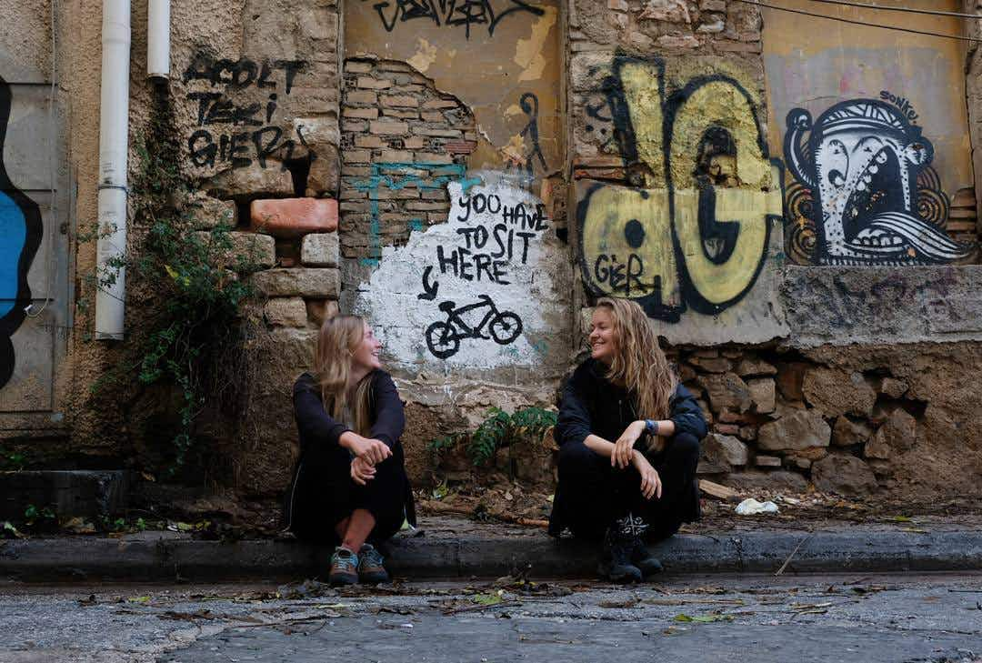 One woman is using her bike to discover street art culture around the world
