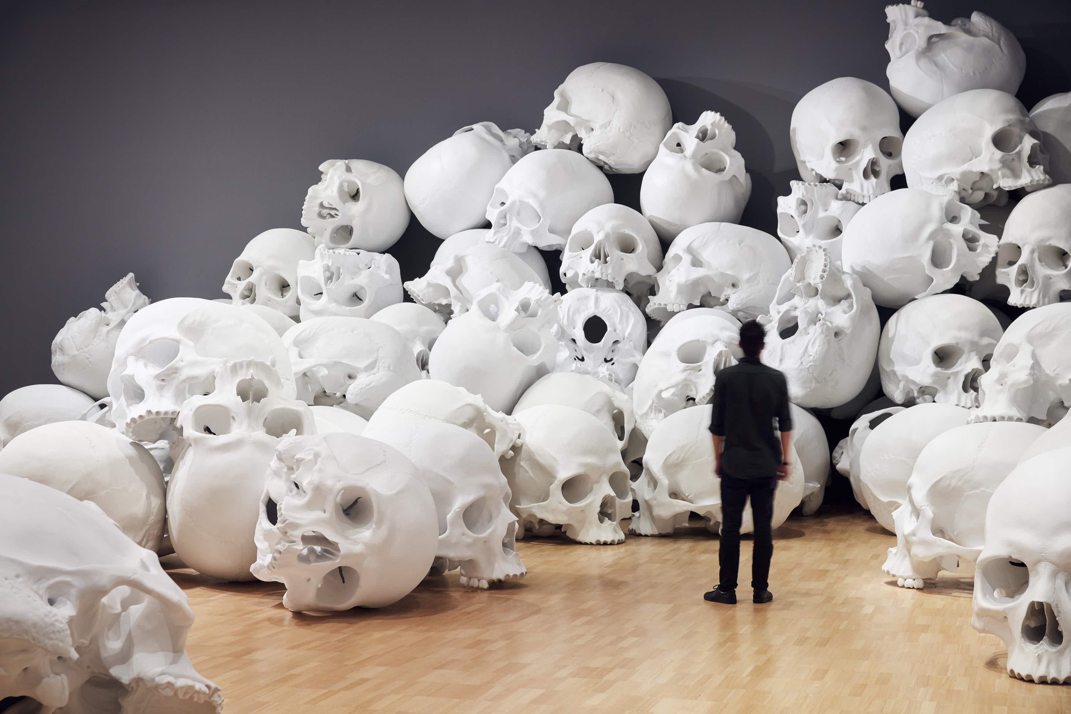Be surrounded by giant skulls at this Melbourne gallery