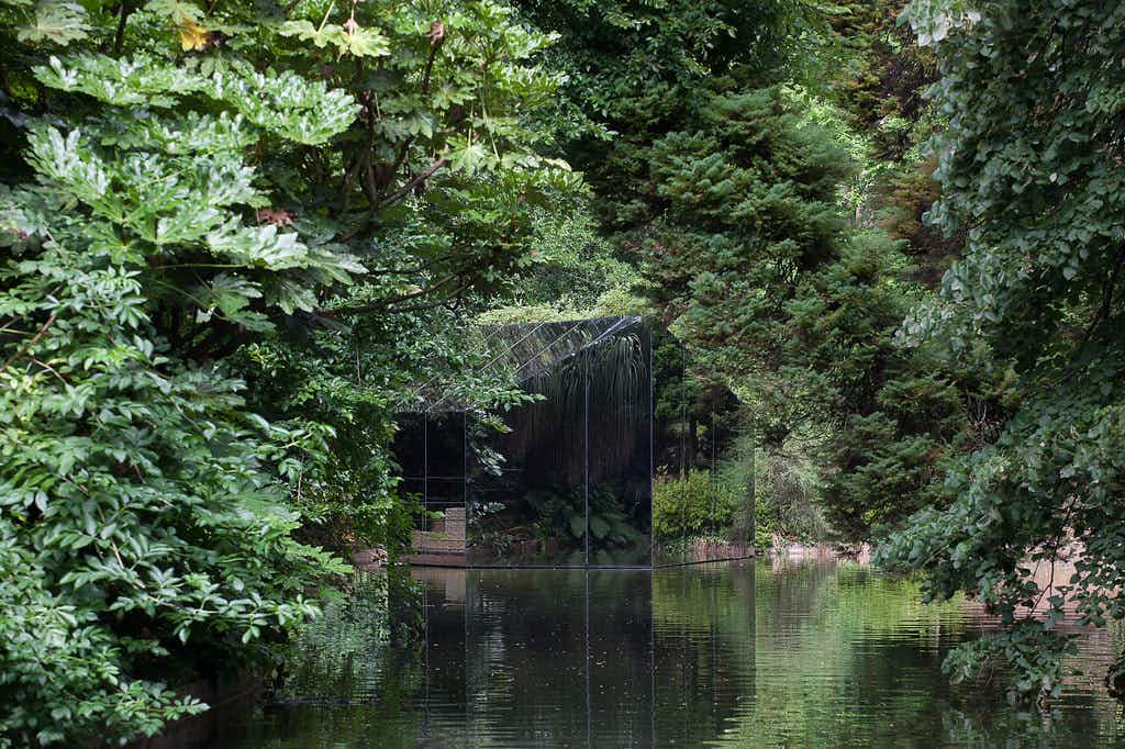 Step inside a magical mirrored pavilion as part of an art exhibition in Porto