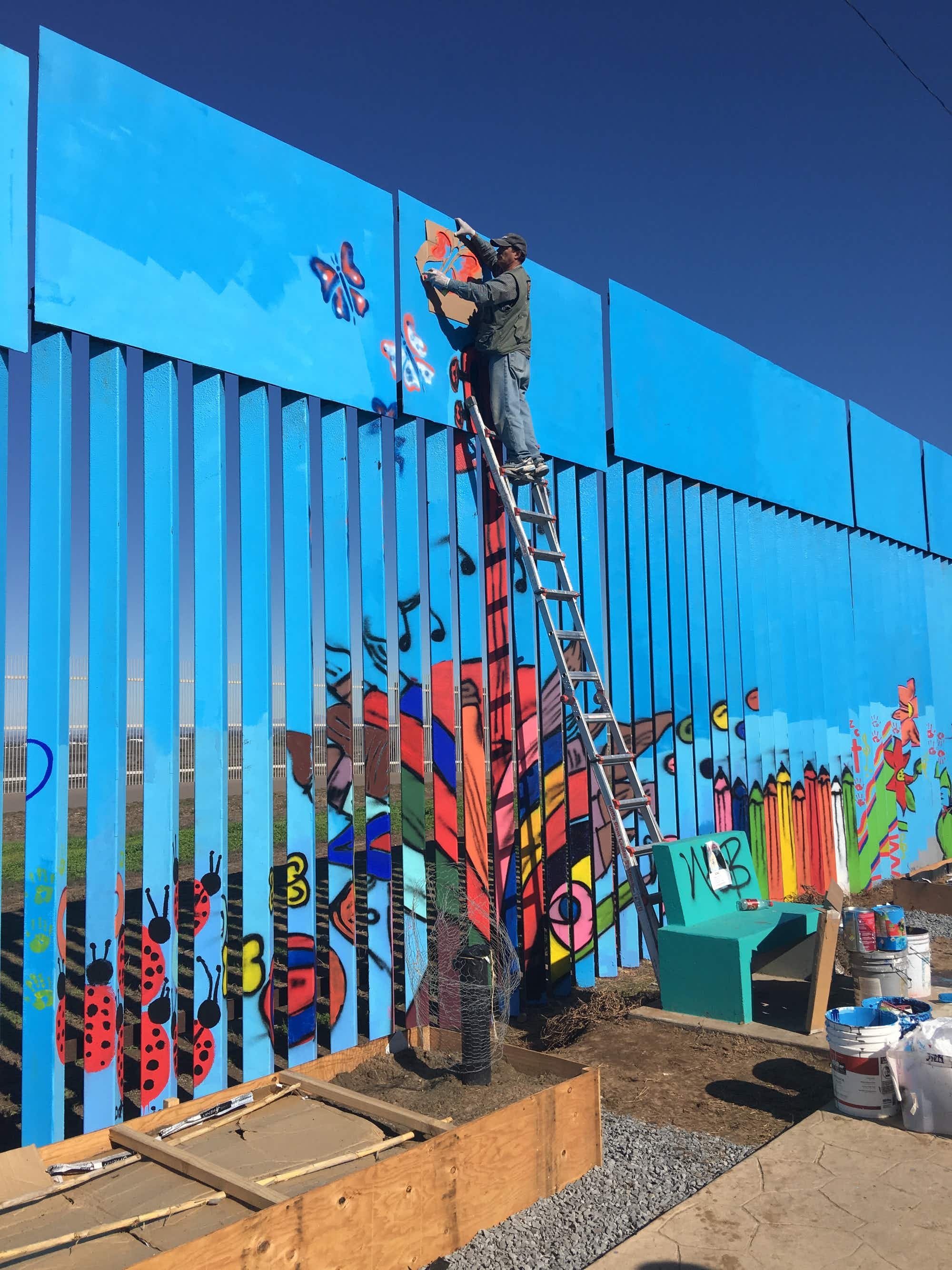 The world's longest mural is being painted on the US-Mexico border wall