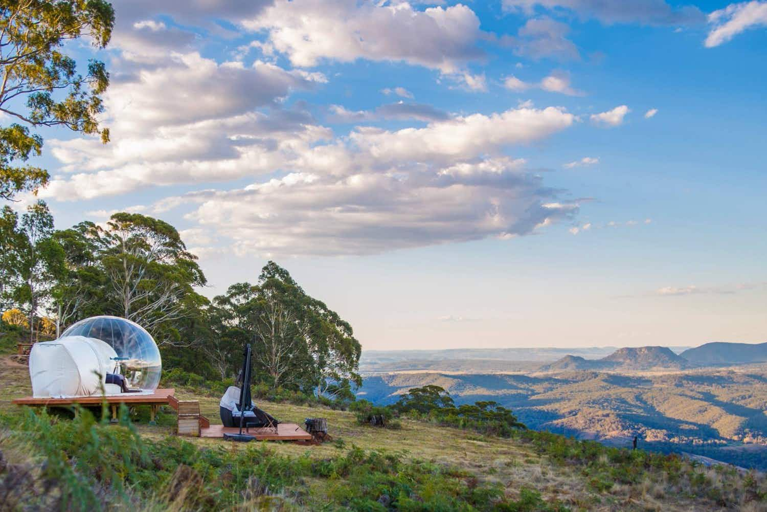 Australia's new bubble tents give the ultimate skygazing experience