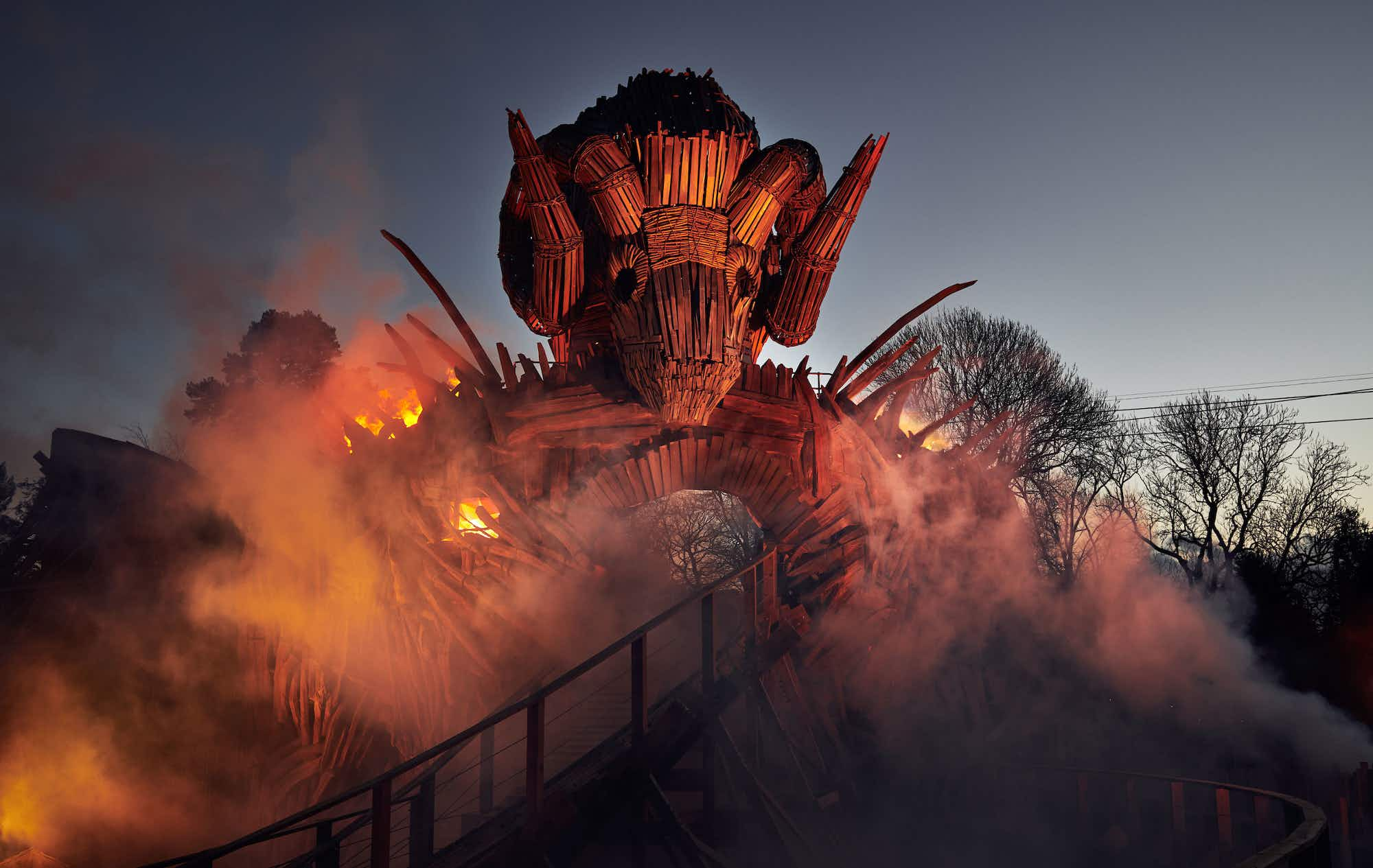 Alton Towers' new Wicker Man rollercoaster merges fire and wood