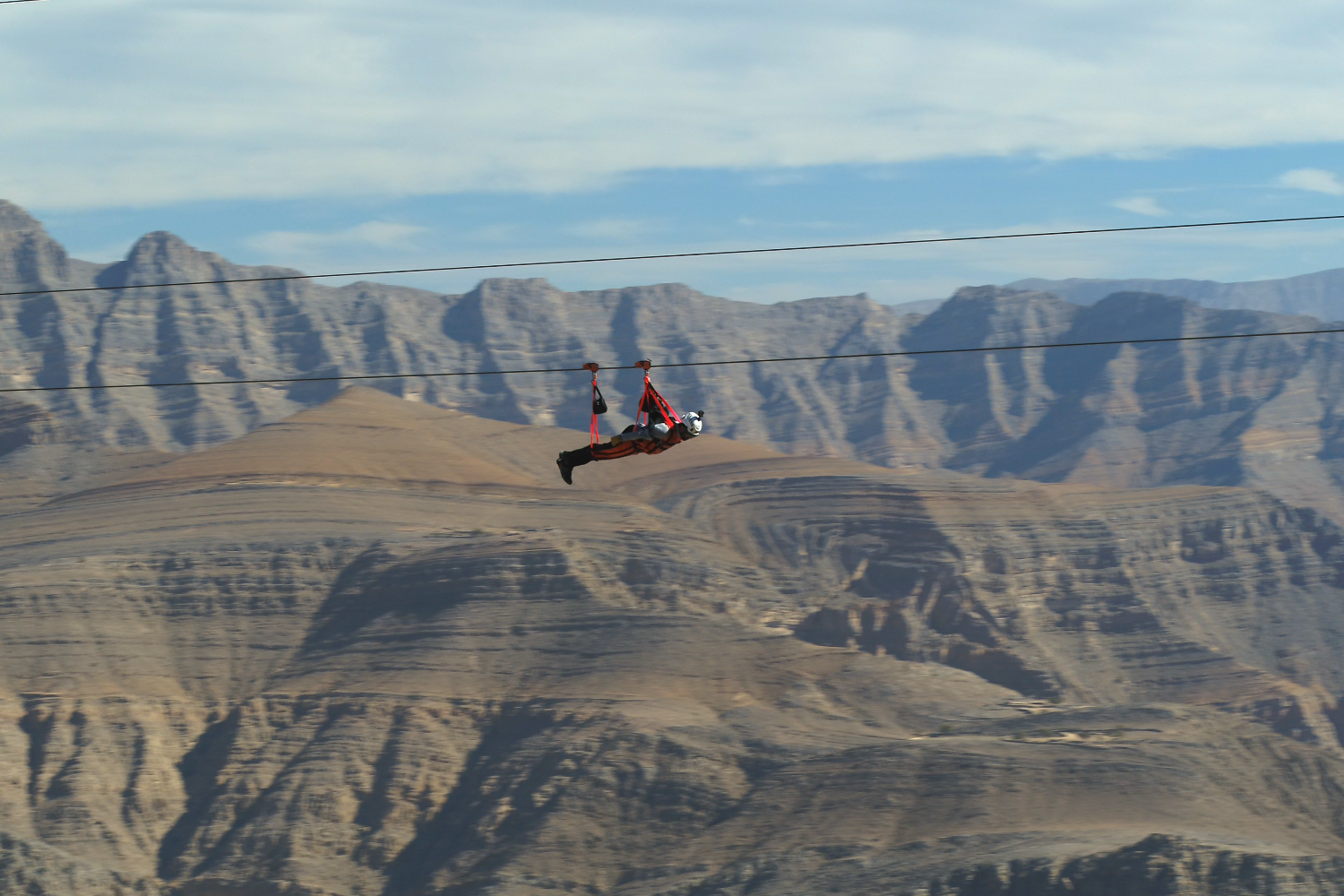 Would you ride on the world's longest zipline now open in the UAE