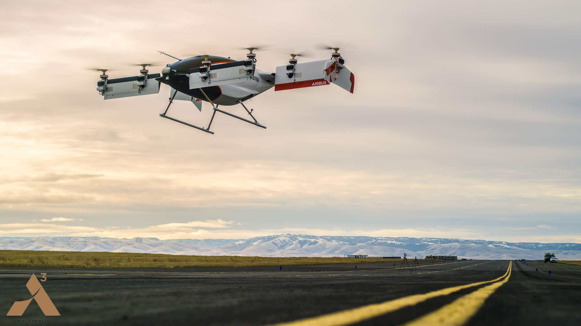 Watch Airbus testing its new all-electric, self-piloting flying taxi