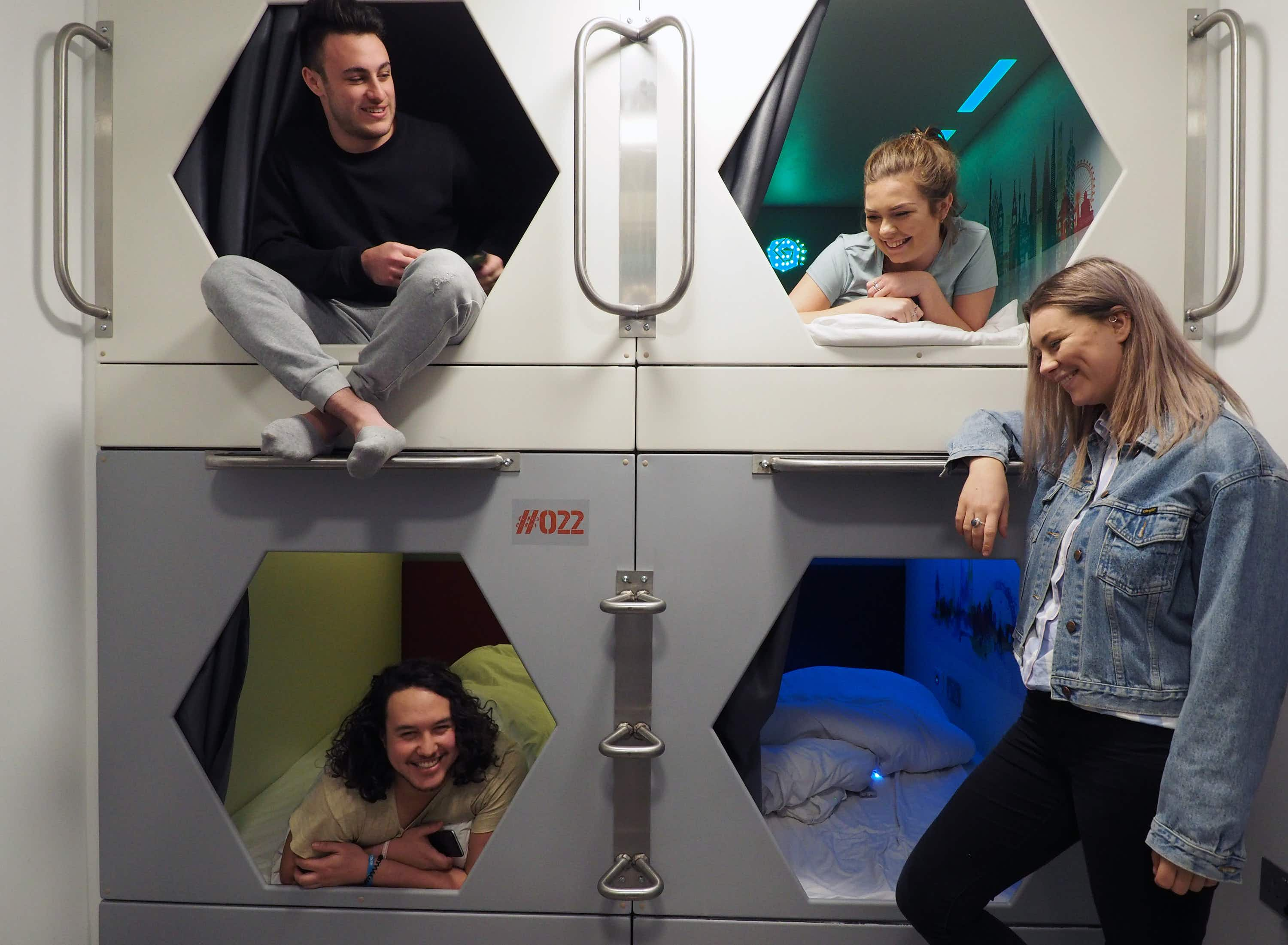See inside these new capsule beds in a central London hostel