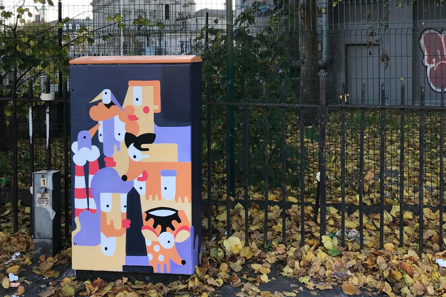 Dublin's grey traffic light control boxes are getting a colourful makeover