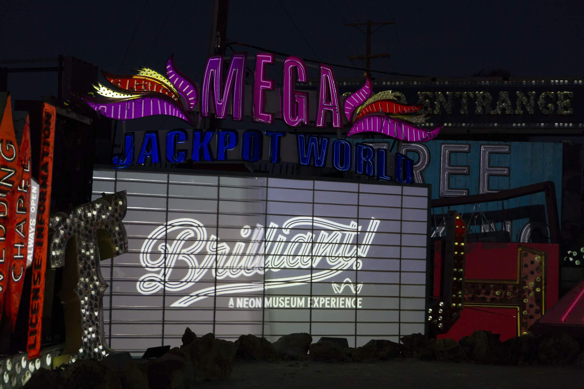 Las Vegas is home to a new exhibition celebrating its love of neon