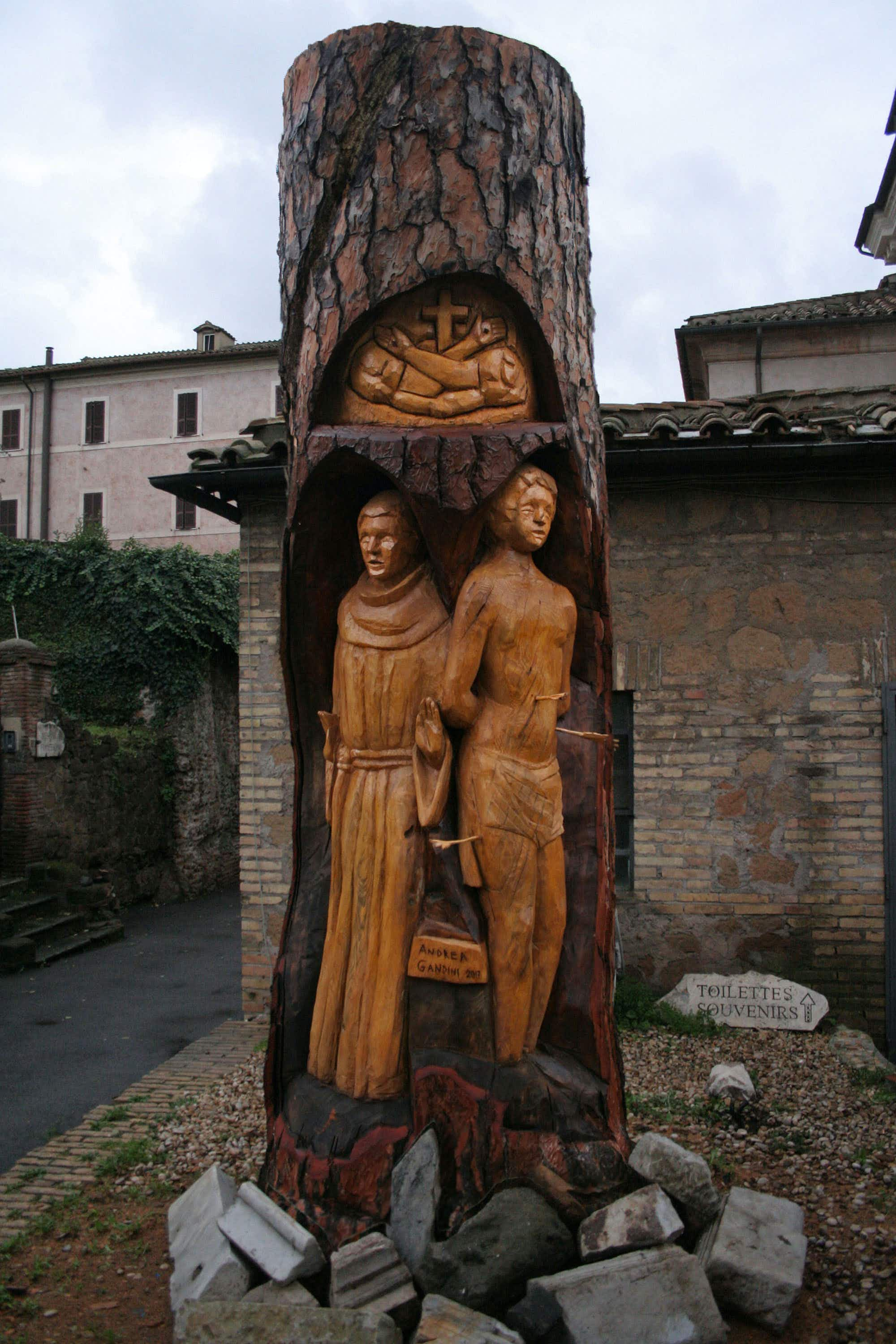 An urban sculptor is turning Rome's tree stumps into works of art