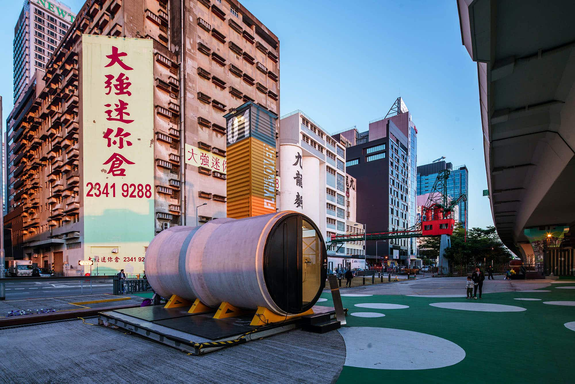 Would you spend the night in a concrete pipe in Hong Kong?