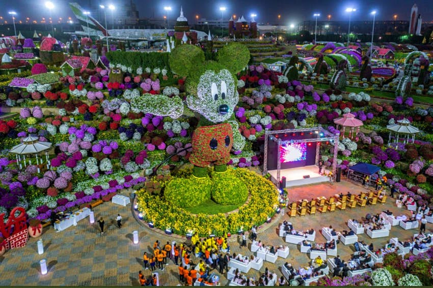 A Gigantic Floral Mickey Mouse Has Been Unveiled At Dubai Miracle Garden Lonely Planet