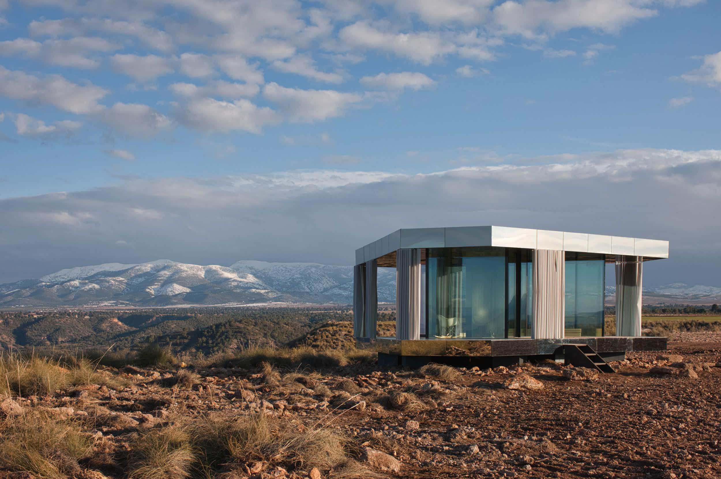 Stargaze from a new glass pavilion in the middle of Spain's Gorafe Desert