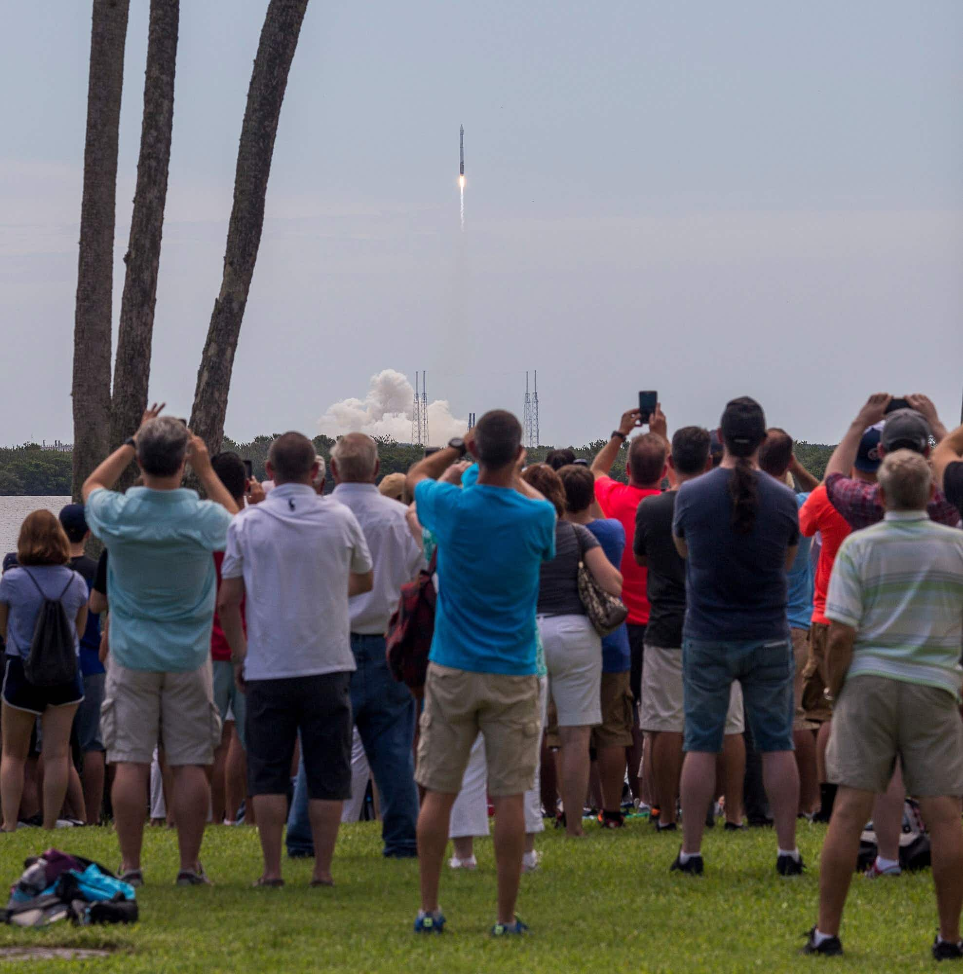 Rocket tourism takes off in Florida as thousands flock to see the latest blast-off