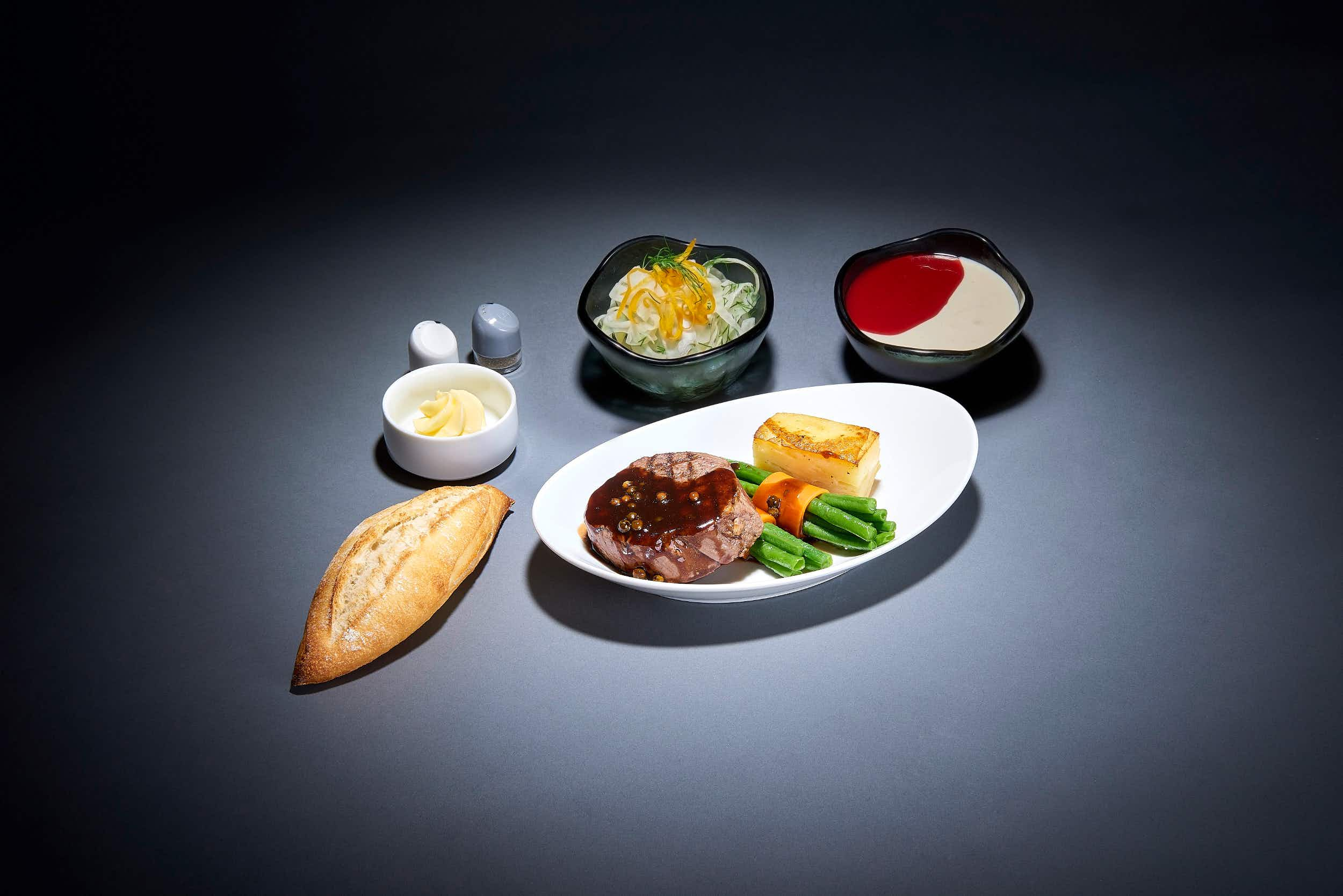 Steak or shrimp? Lufthansa's new fine dining menus are a foodie's dream come true