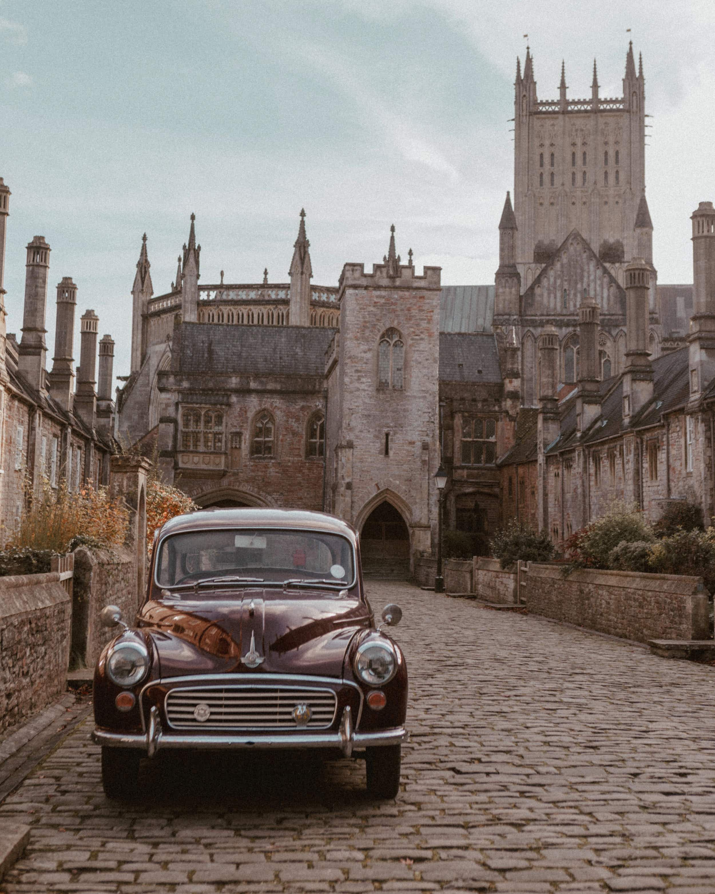 Exploring the UK's most picturesque towns in a vintage Morris Minor
