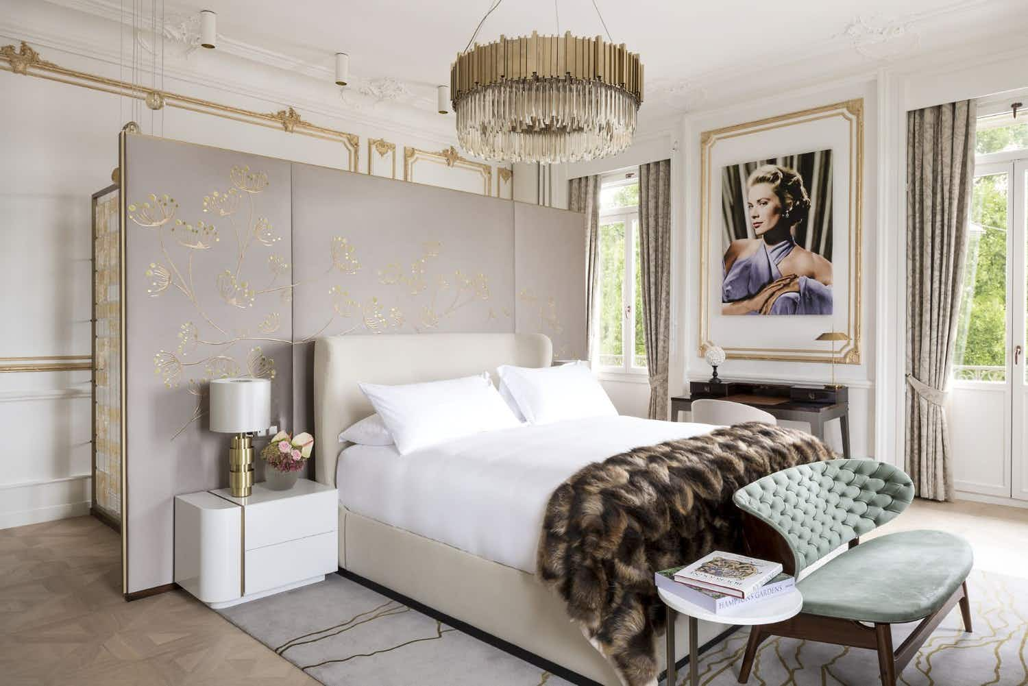 You can live like royalty in this Swiss hotel's sophisticated Grace Kelly suite