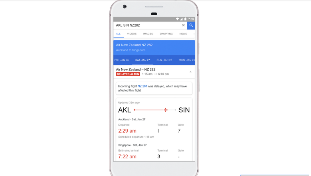 Google may know your flight is delayed before your airline does