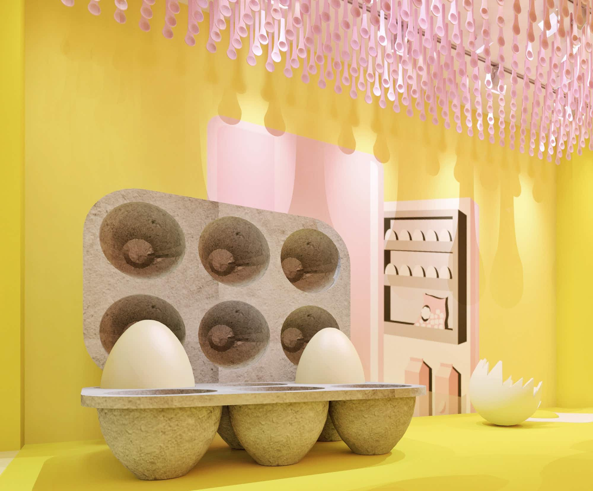 A quirky egg-themed pop-up is opening in New York