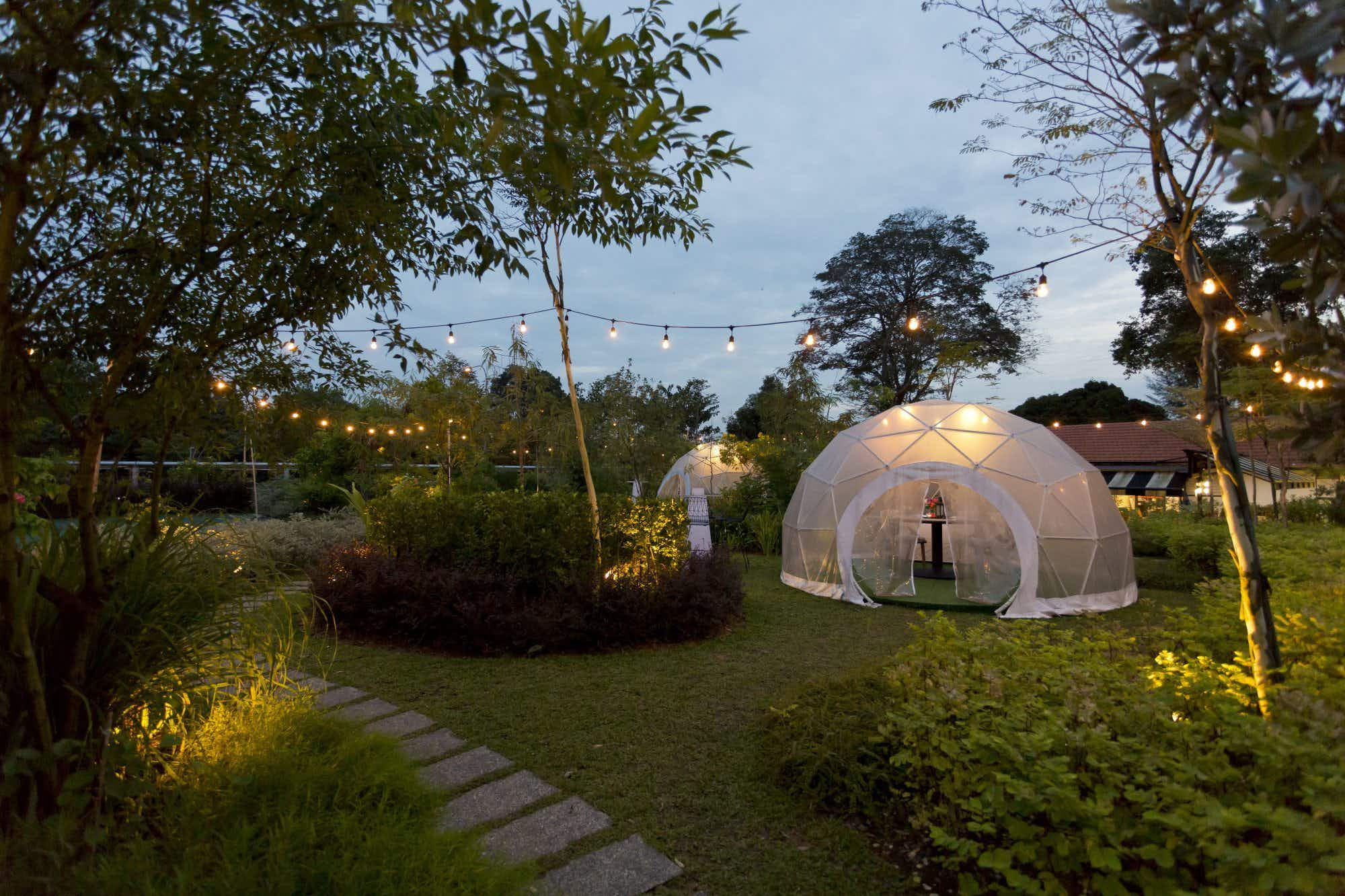 Singapore's new outdoor dining experience is set in an edible garden