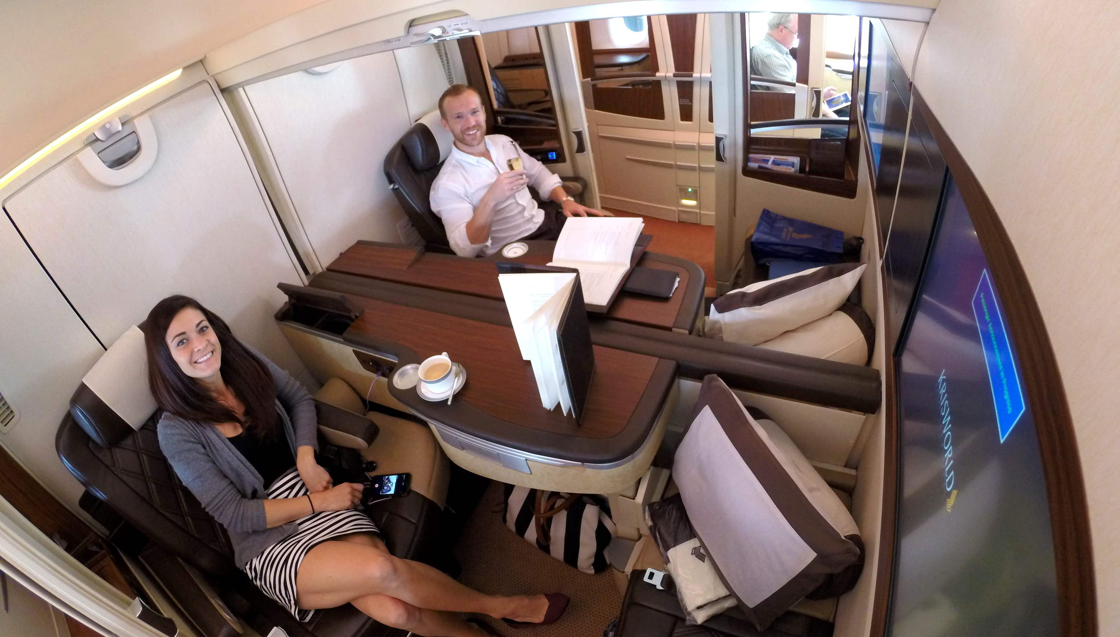 This couple travelled the world by paying less than $2200 for flights worth 25 times that