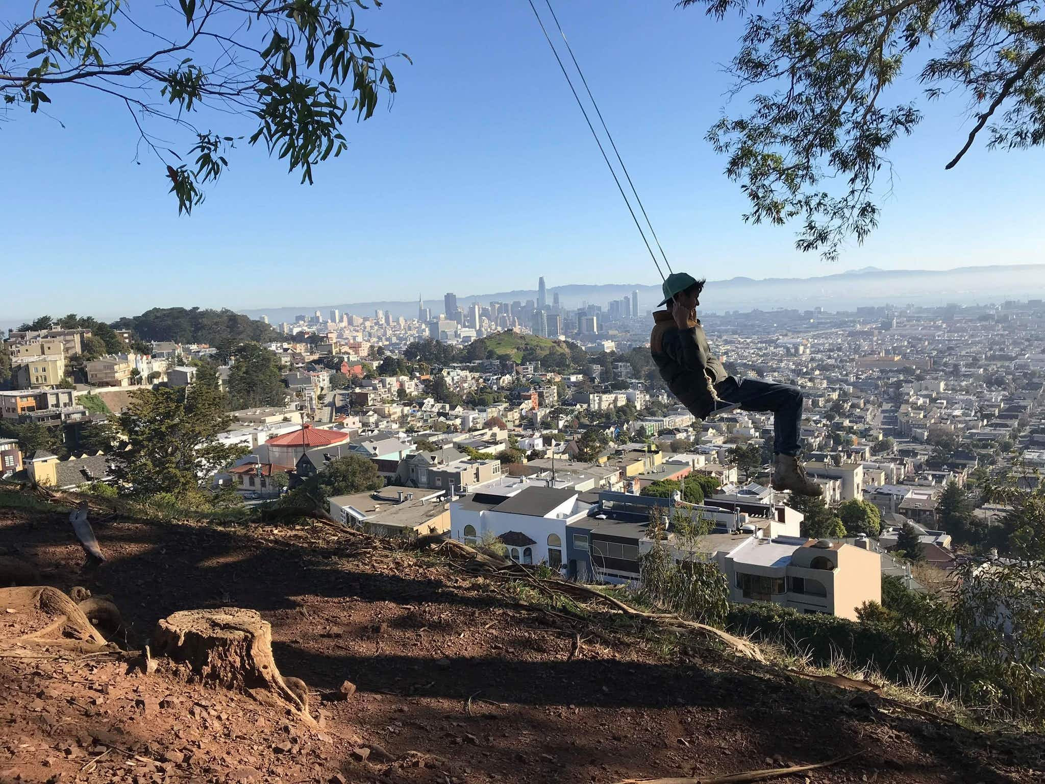 Discover why rope swings are appearing all over San Francisco