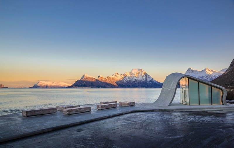 This toilet on a scenic driving route in Norway is worth a