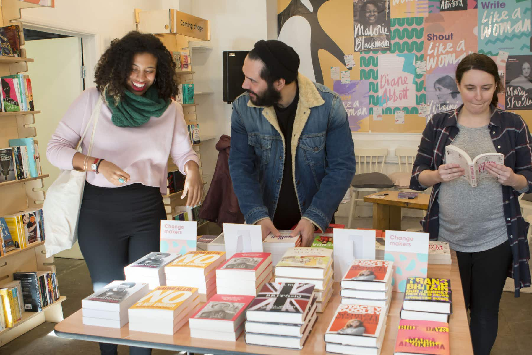 A bookshop selling only female authors pops up in London for International Women's Day