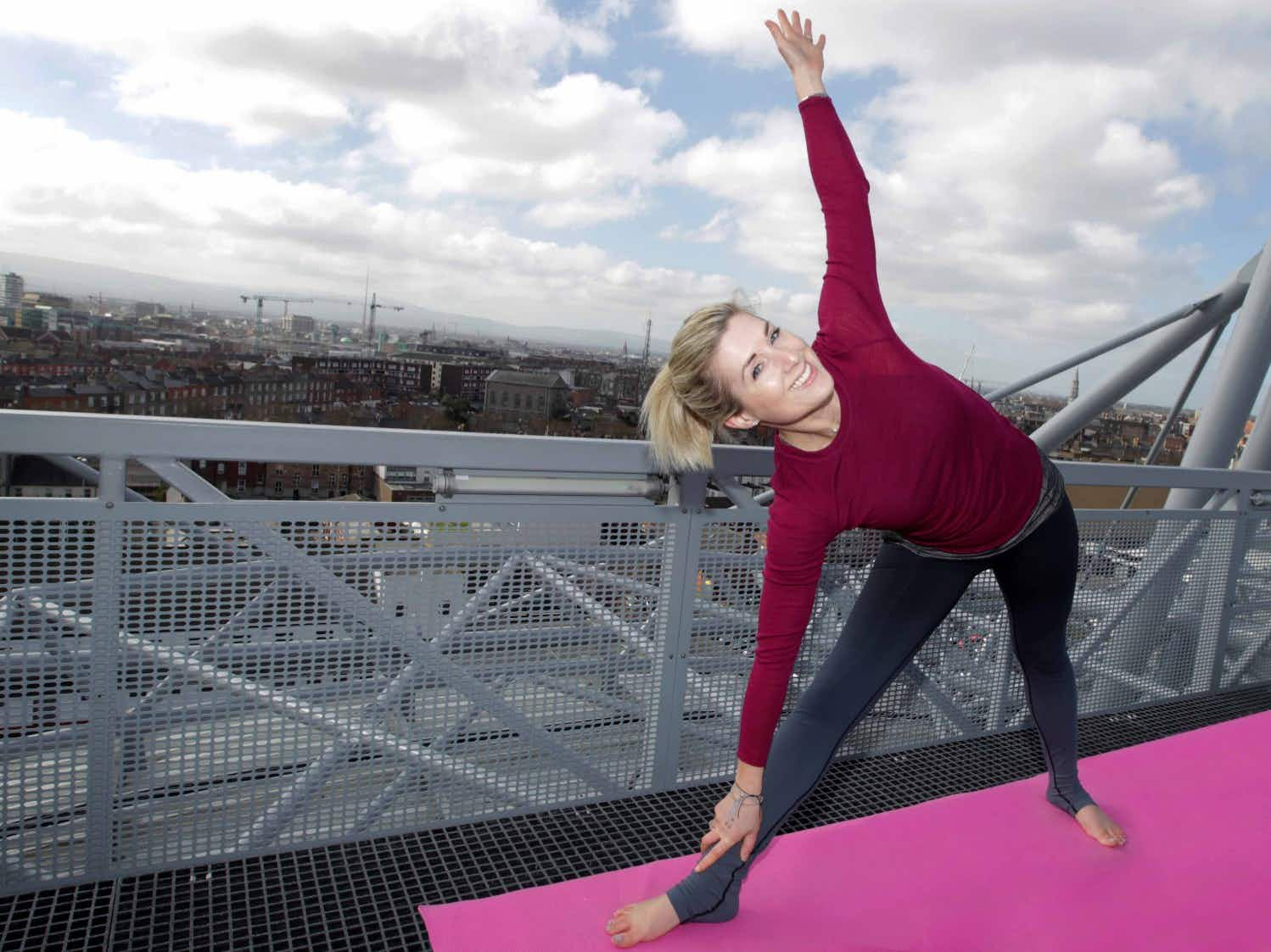 Dublin visitors can take in a yoga class on top of the city's iconic Croke Park stadium