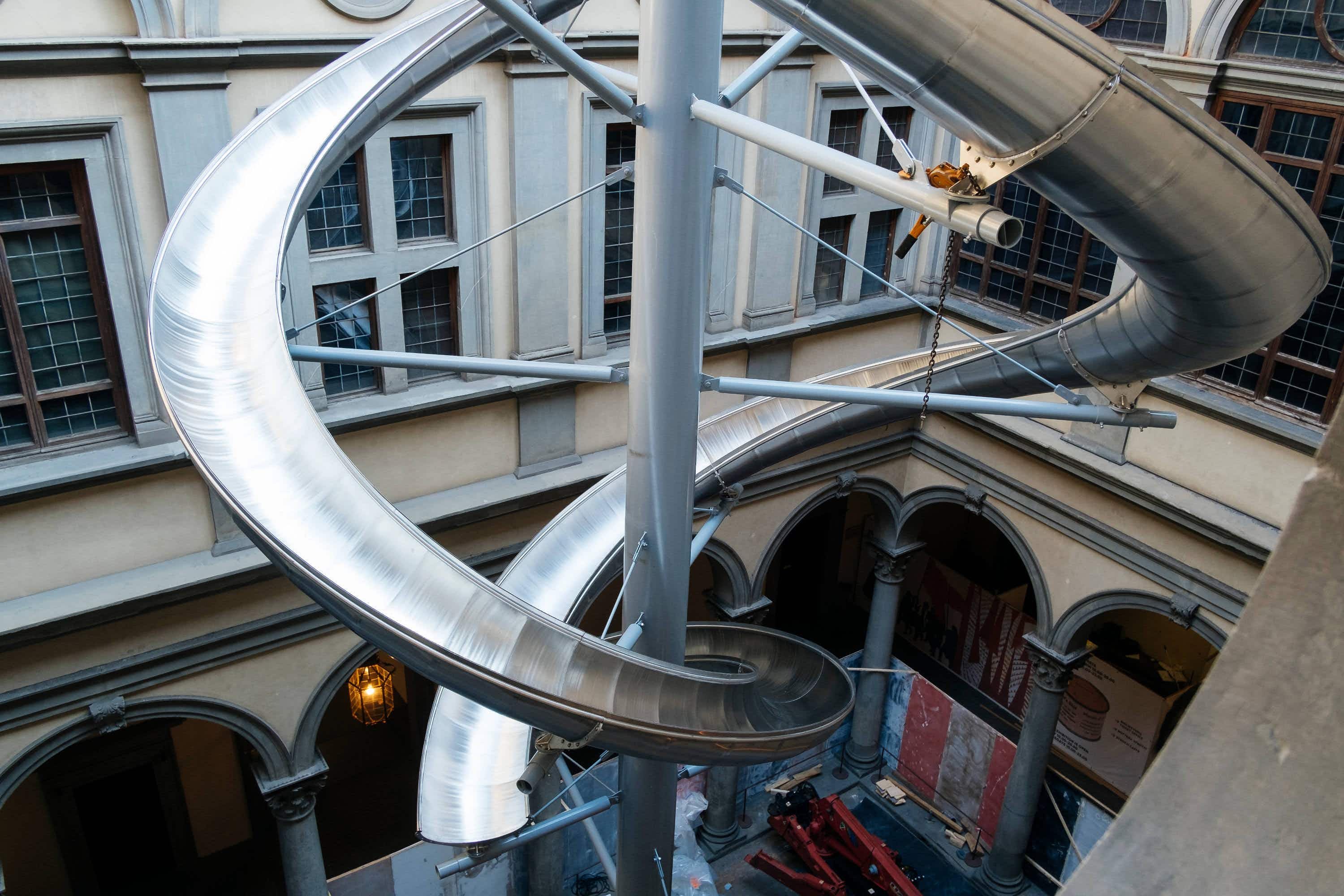 Slide through a 15th-century Florence palazzo as part of an art installation