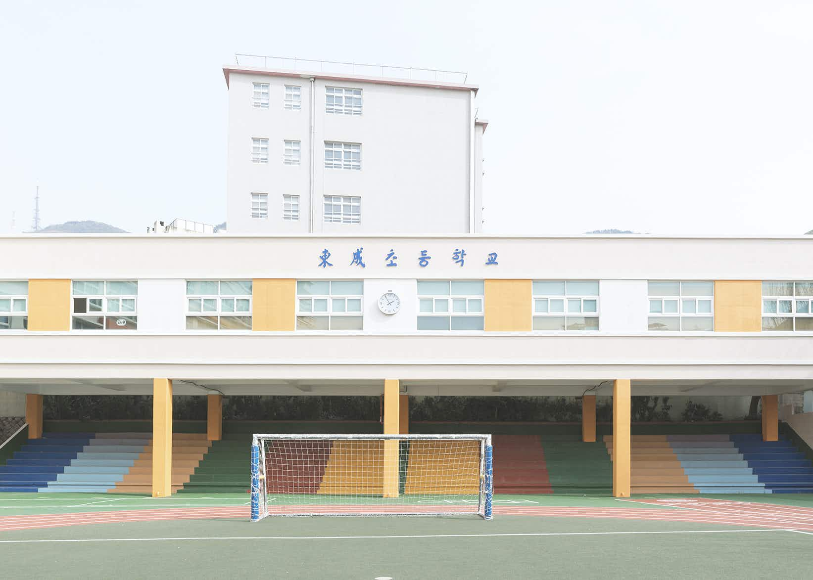 South Korea's pastel-perfect schoolyards captured in style