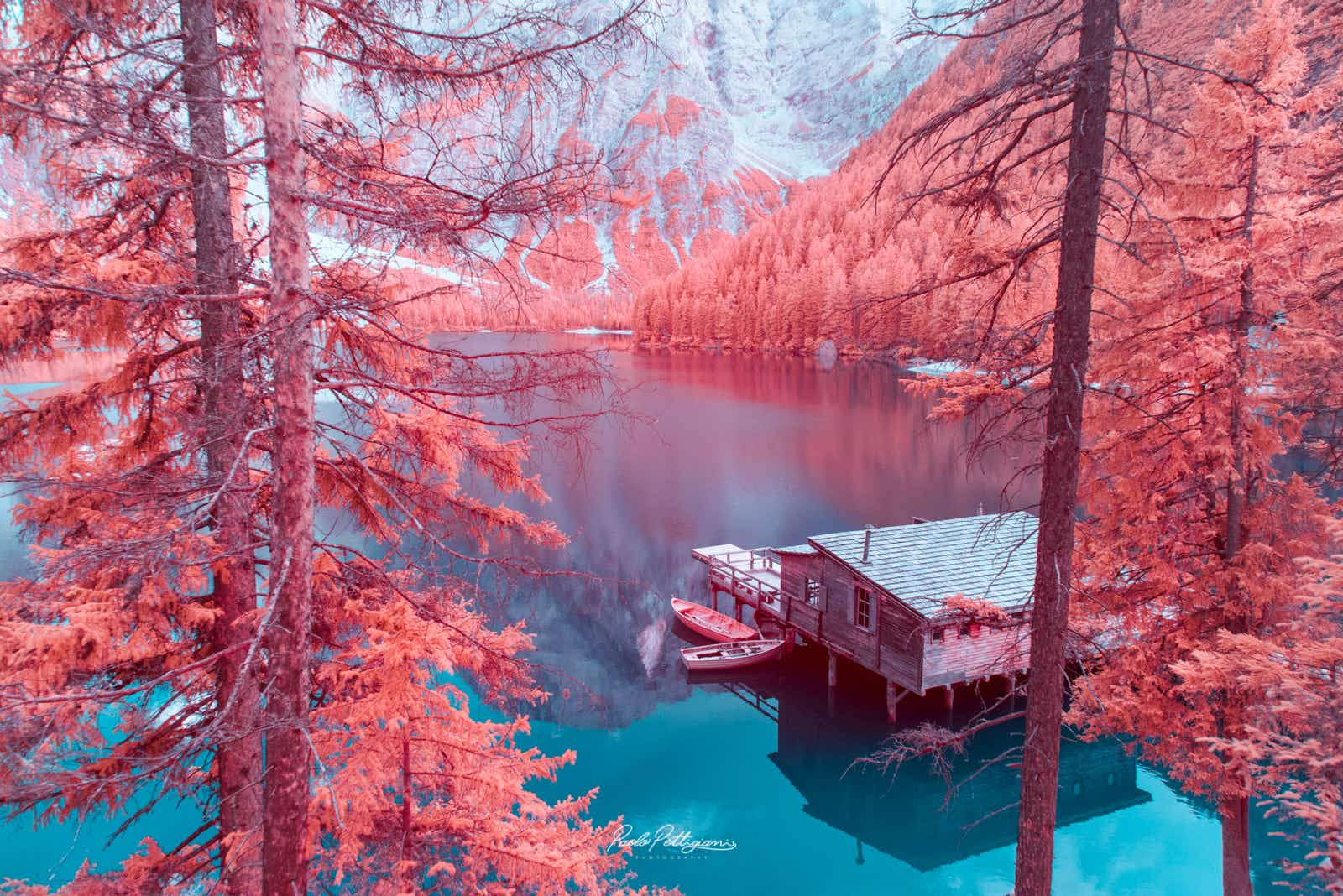 See Italy's Dolomites captured in dreamy infrared