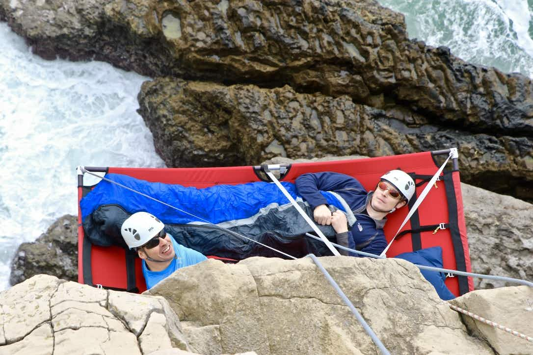 Could you sleep while dangling off the side of a cliff in Dorset?