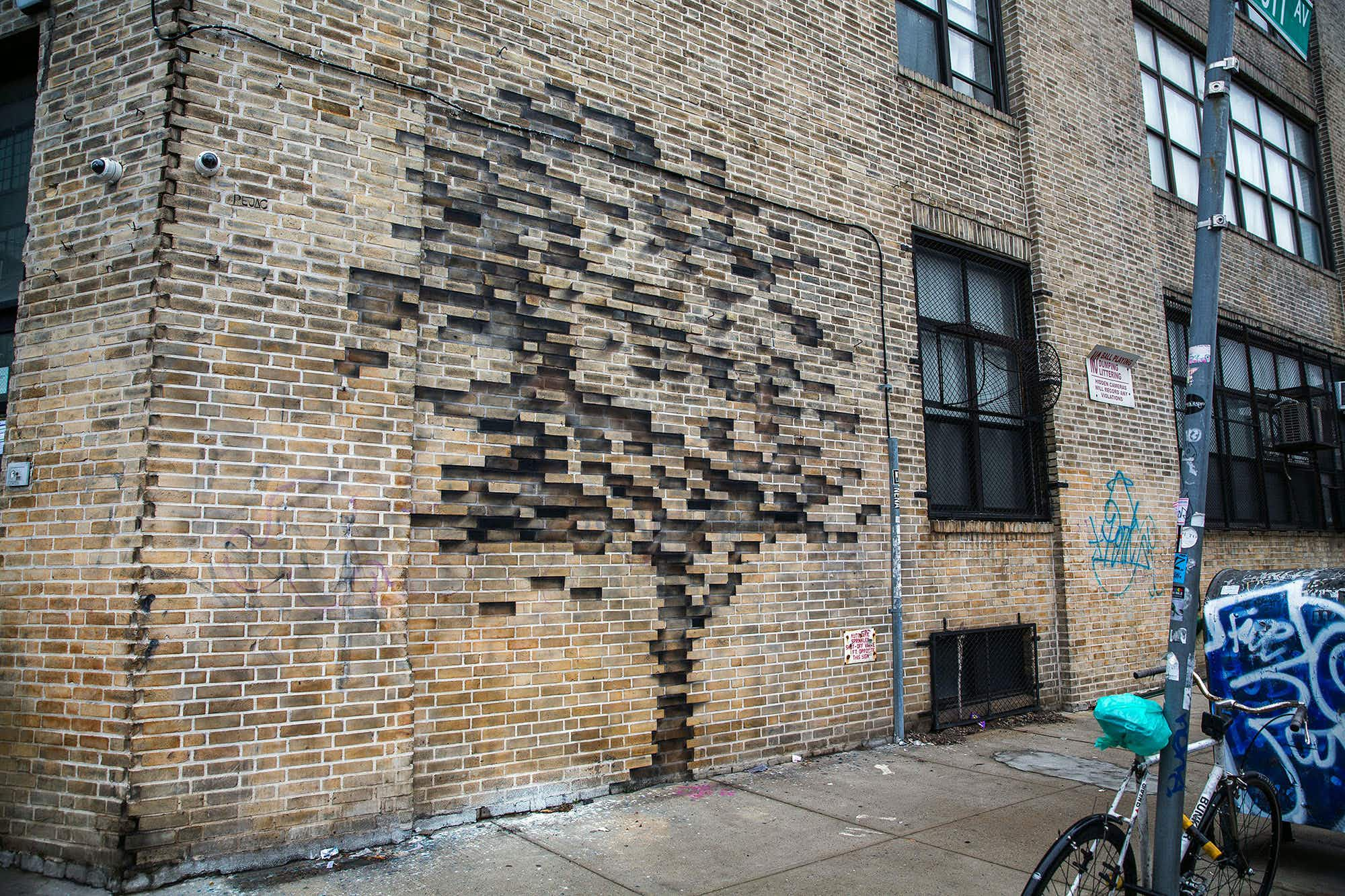 Look out for elusive street artist Pejac's latest work in Brooklyn